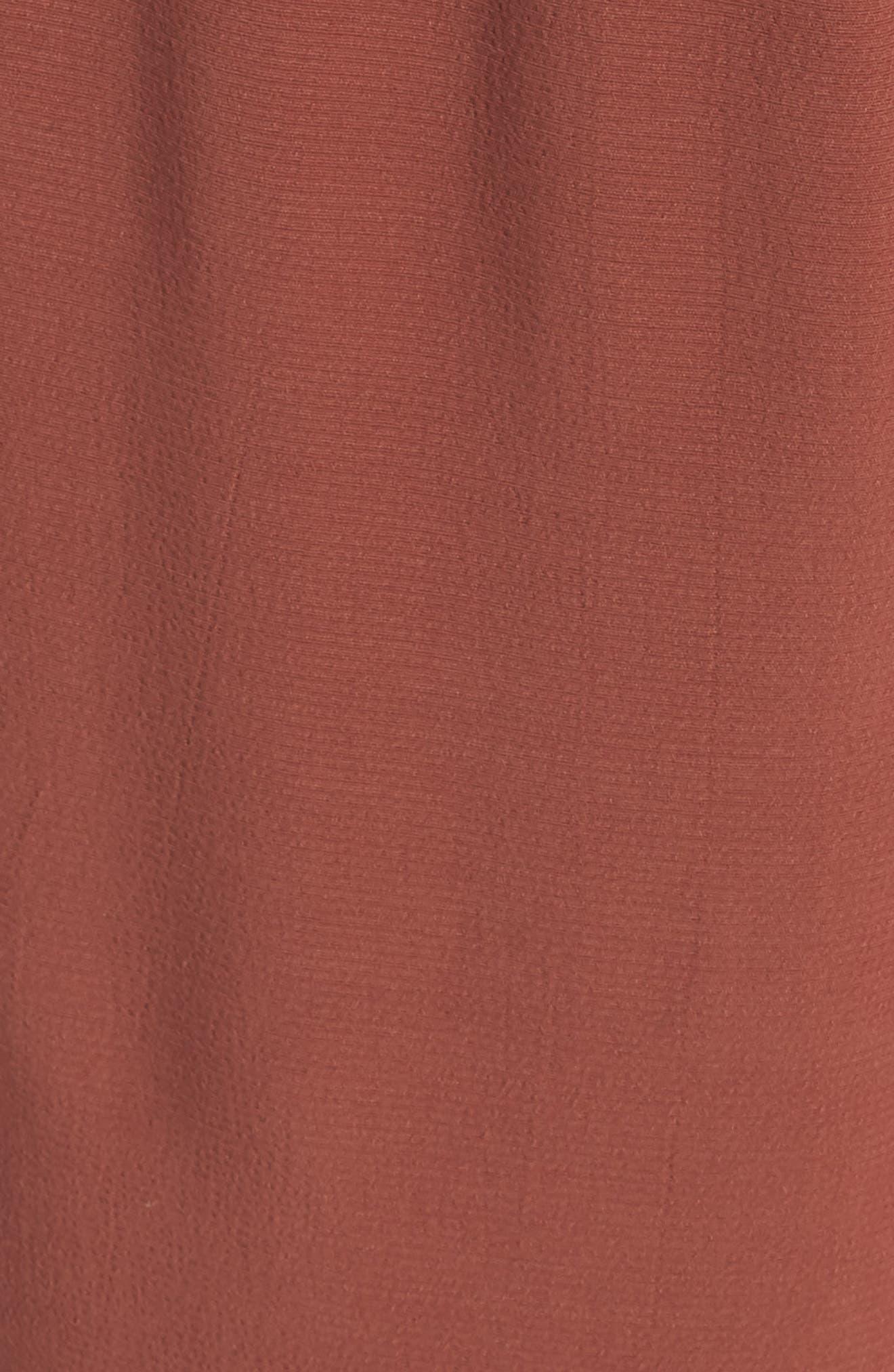 Wide Leg Crop Jumpsuit,                             Alternate thumbnail 5, color,                             Russet