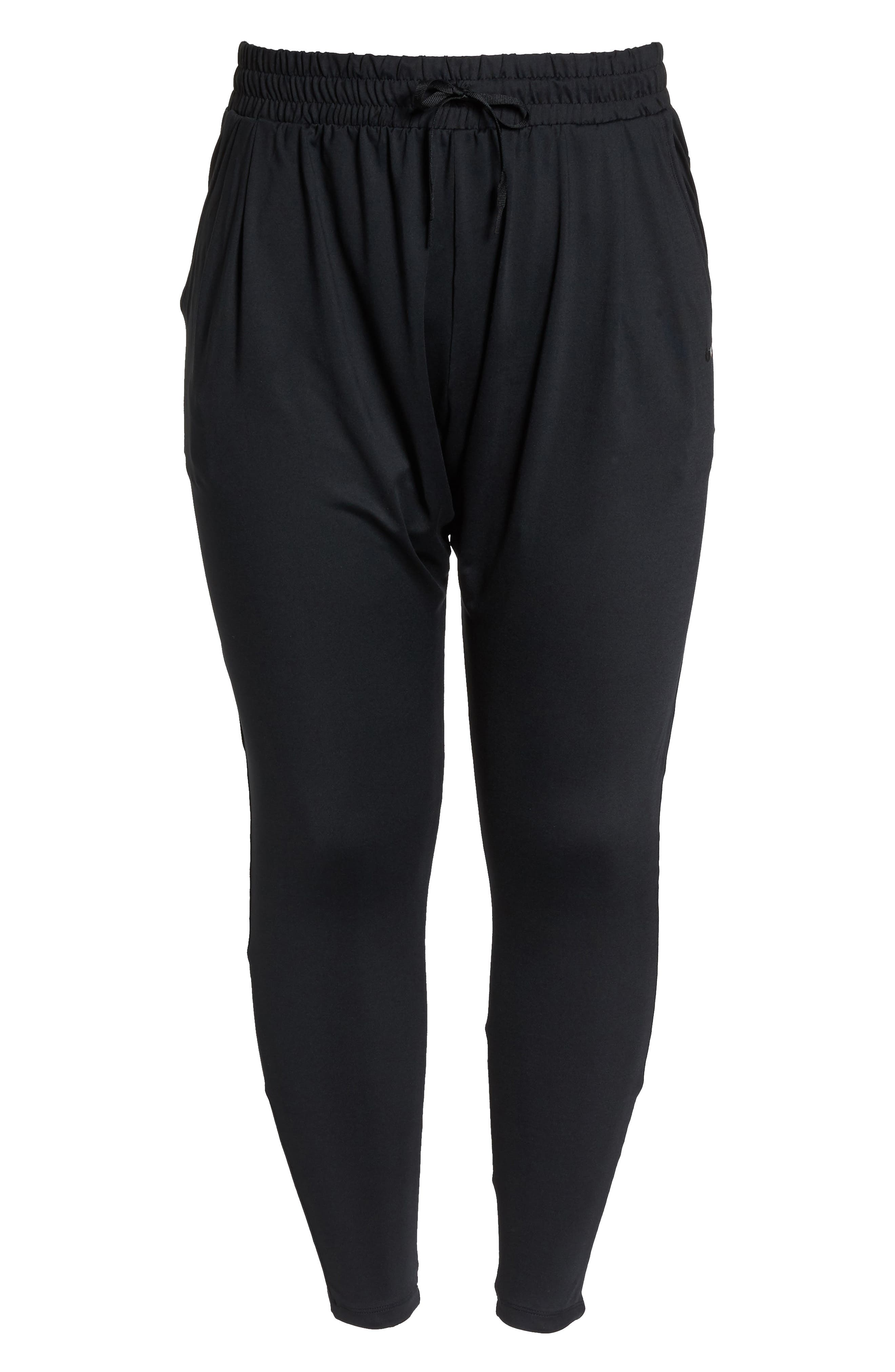 Dry Lux Flow Training Pants,                             Alternate thumbnail 6, color,                             Black/ Clear