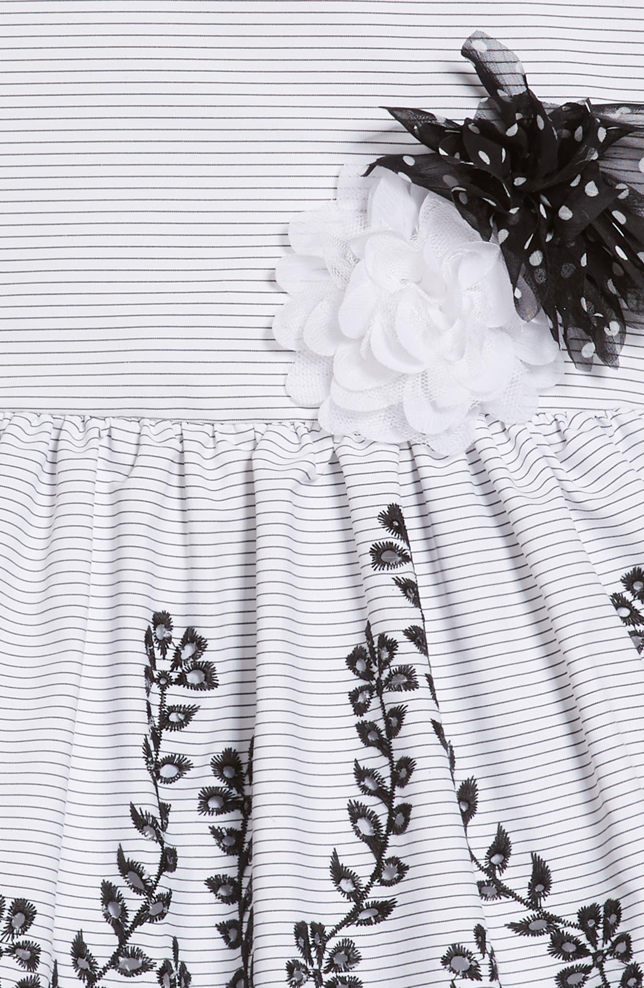 Drop Waist Party Dress,                             Alternate thumbnail 3, color,                             White