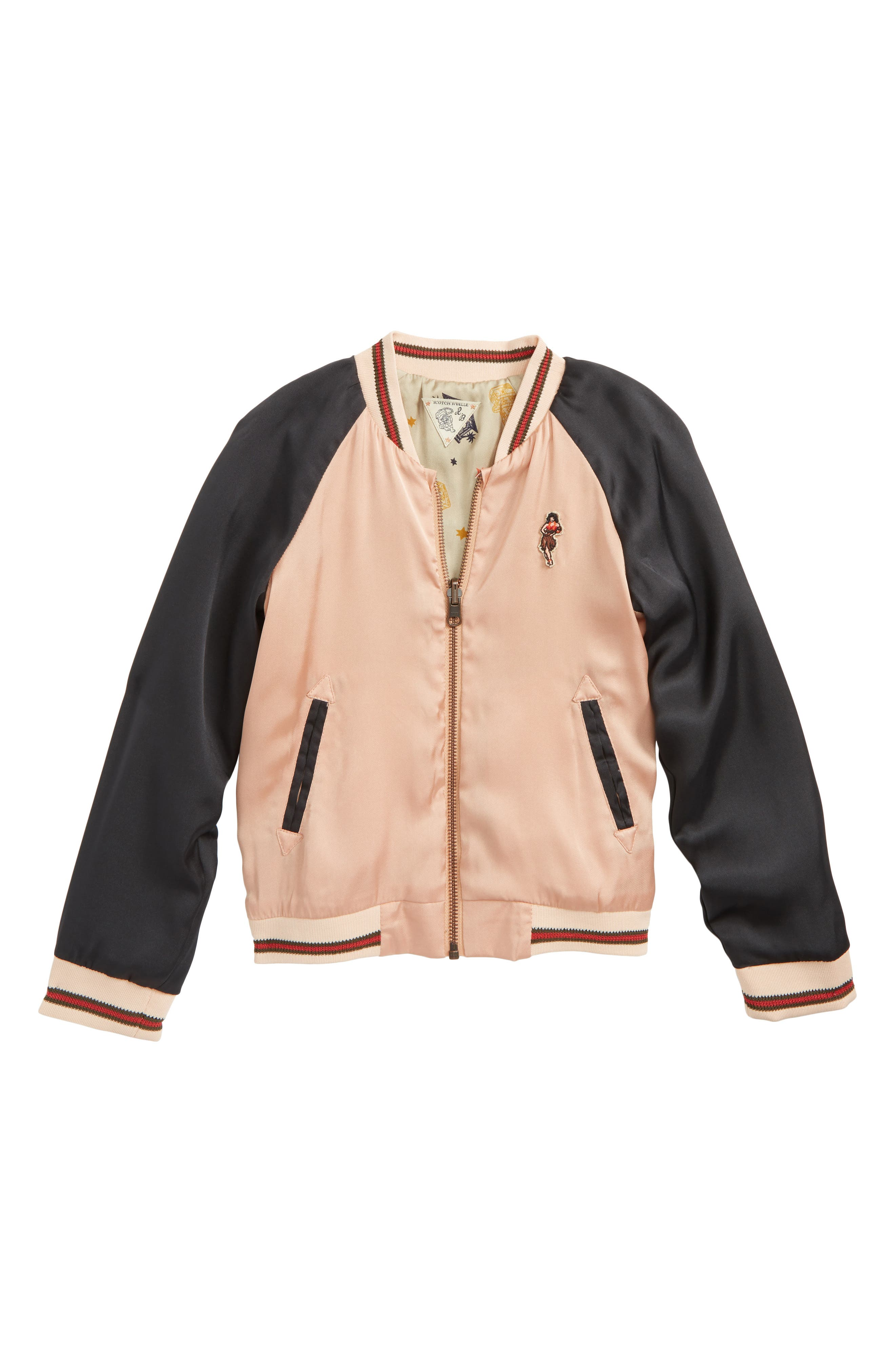 Scothc R'Belle Embroidered Bomber Jacket (Little Girls & Big Girls)