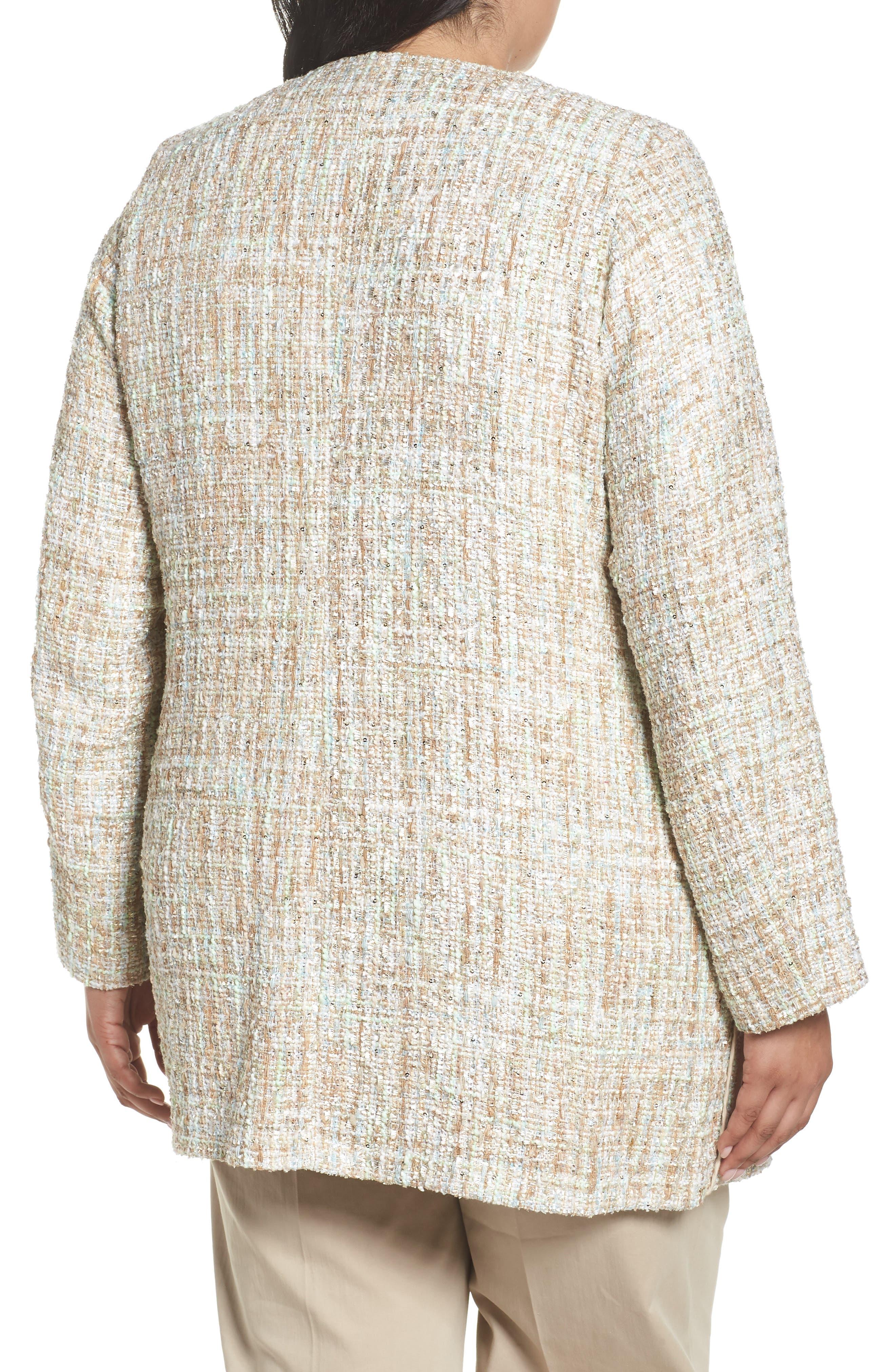 Metallic Tweed Jacket,                             Alternate thumbnail 2, color,                             White