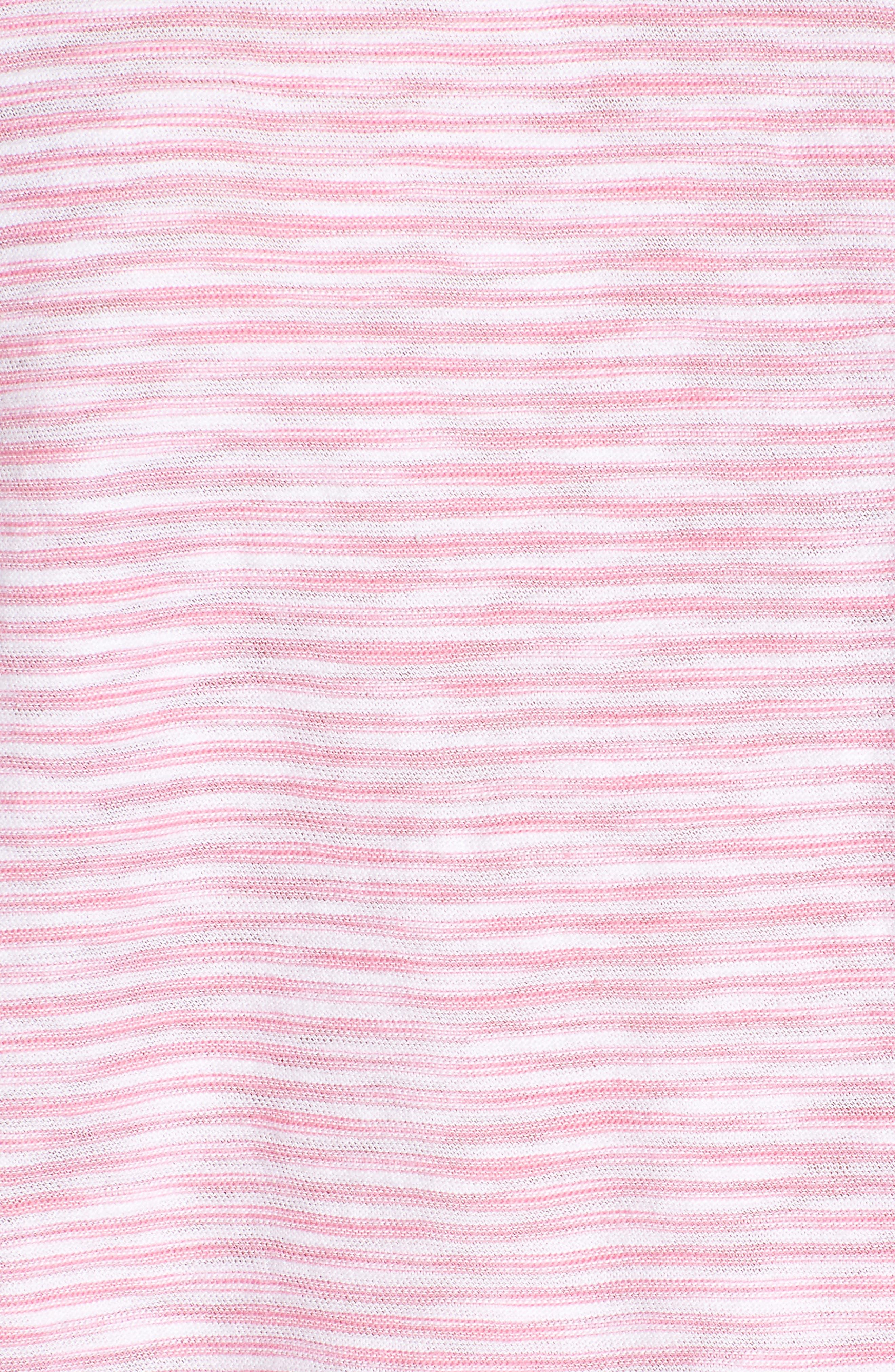 Striped Boxy Tee,                             Alternate thumbnail 5, color,                             Cupcake
