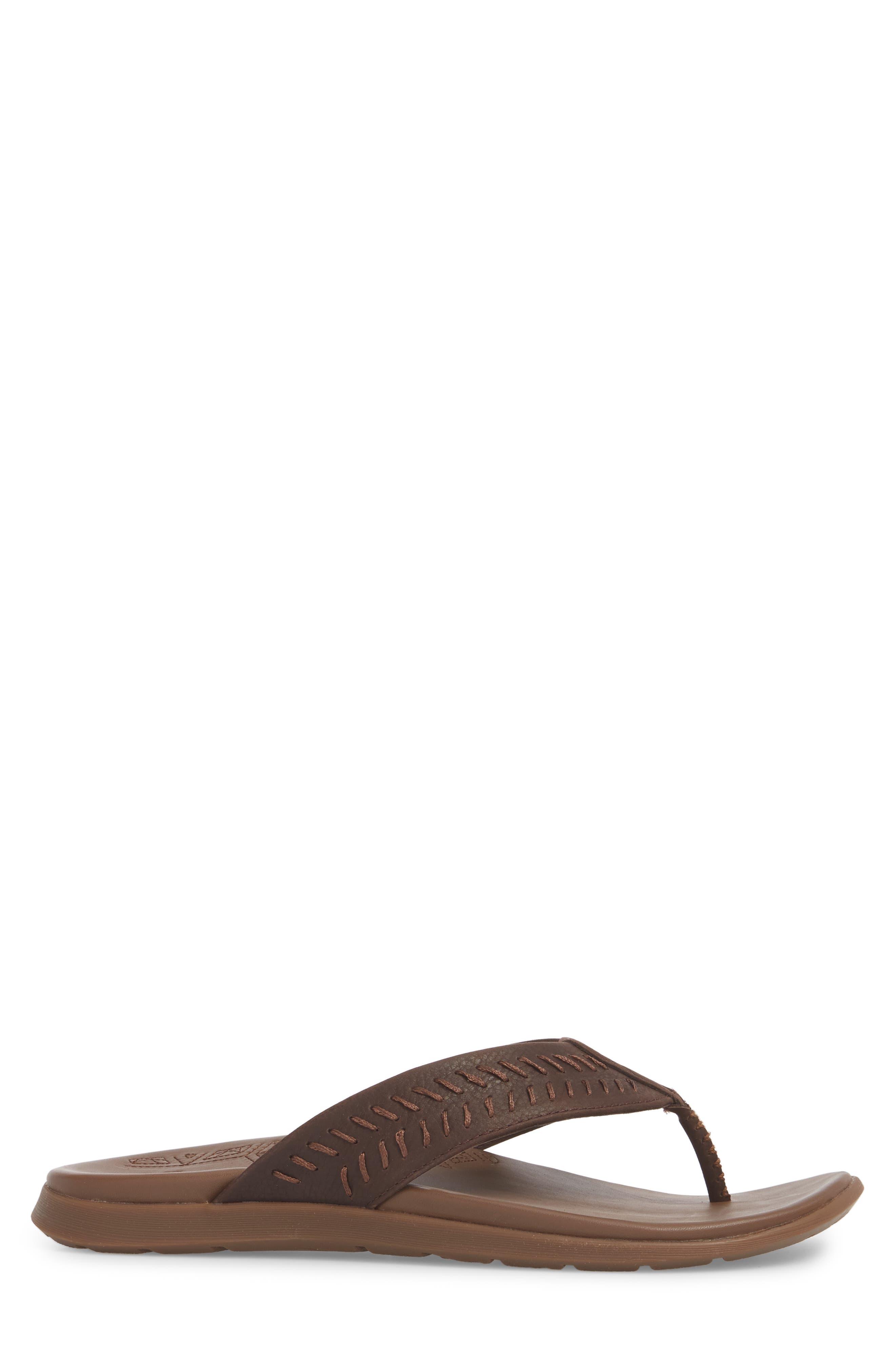Jackson Flip Flop,                             Alternate thumbnail 3, color,                             Java Leather