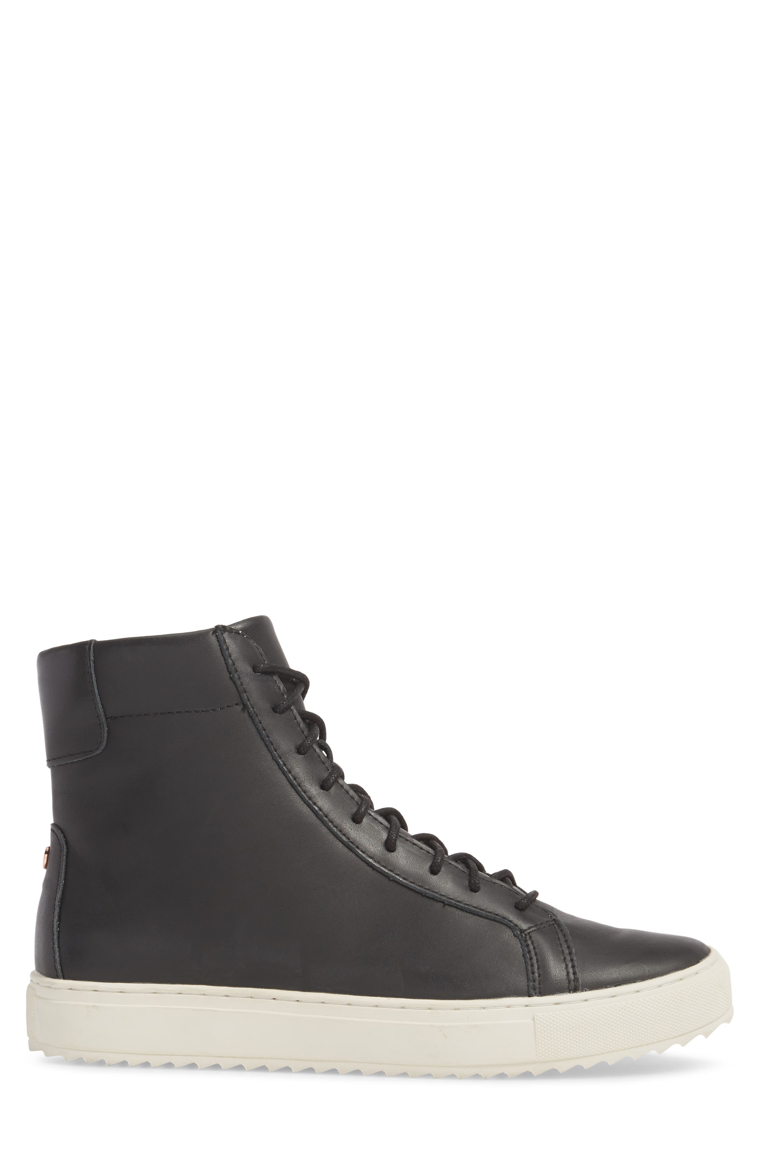 Logan Water Resistant High Top Sneaker,                             Alternate thumbnail 3, color,                             Kettle Leather
