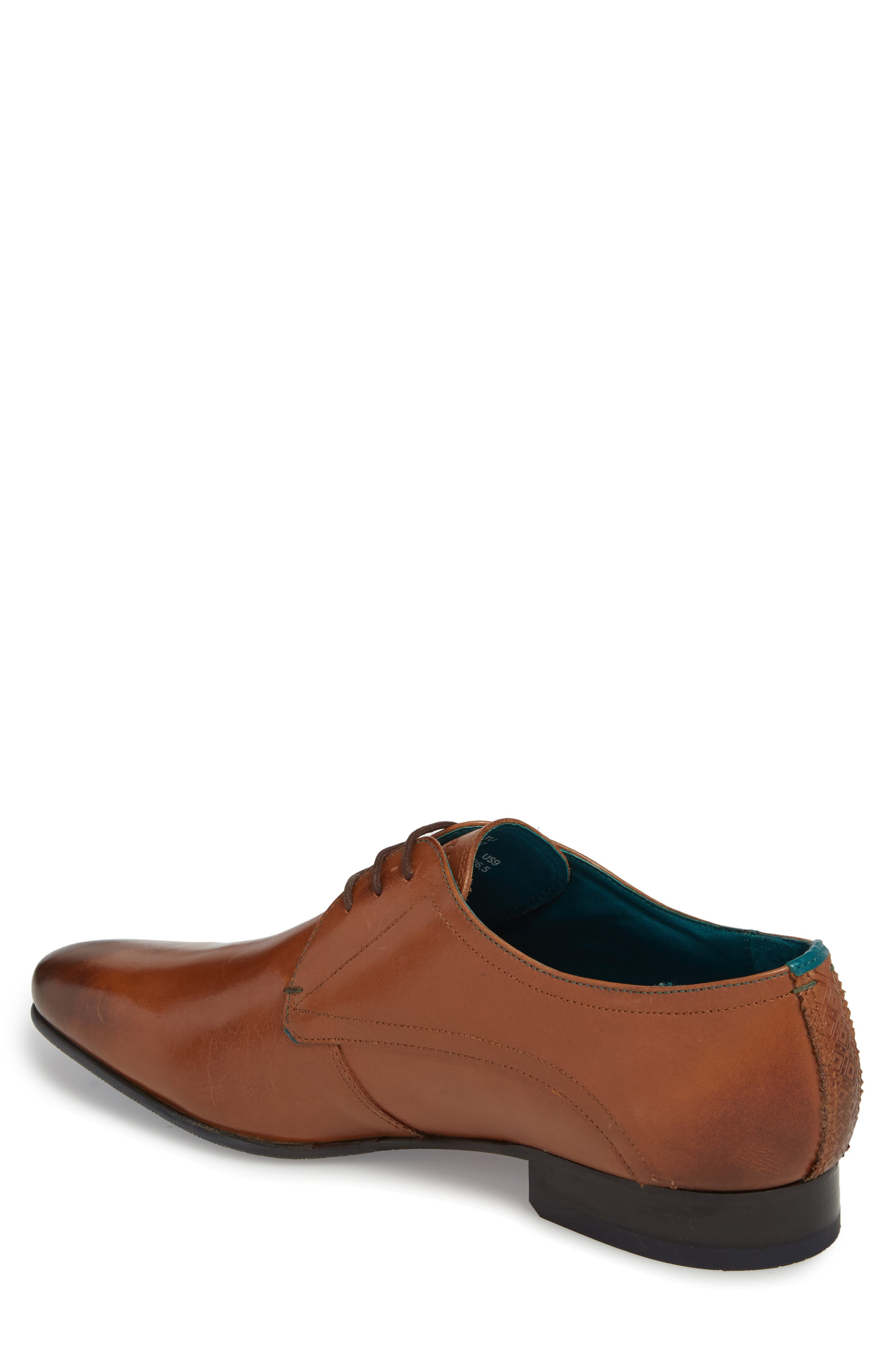 Bhartli Plain Toe Derby,                             Alternate thumbnail 2, color,                             Tan Leather