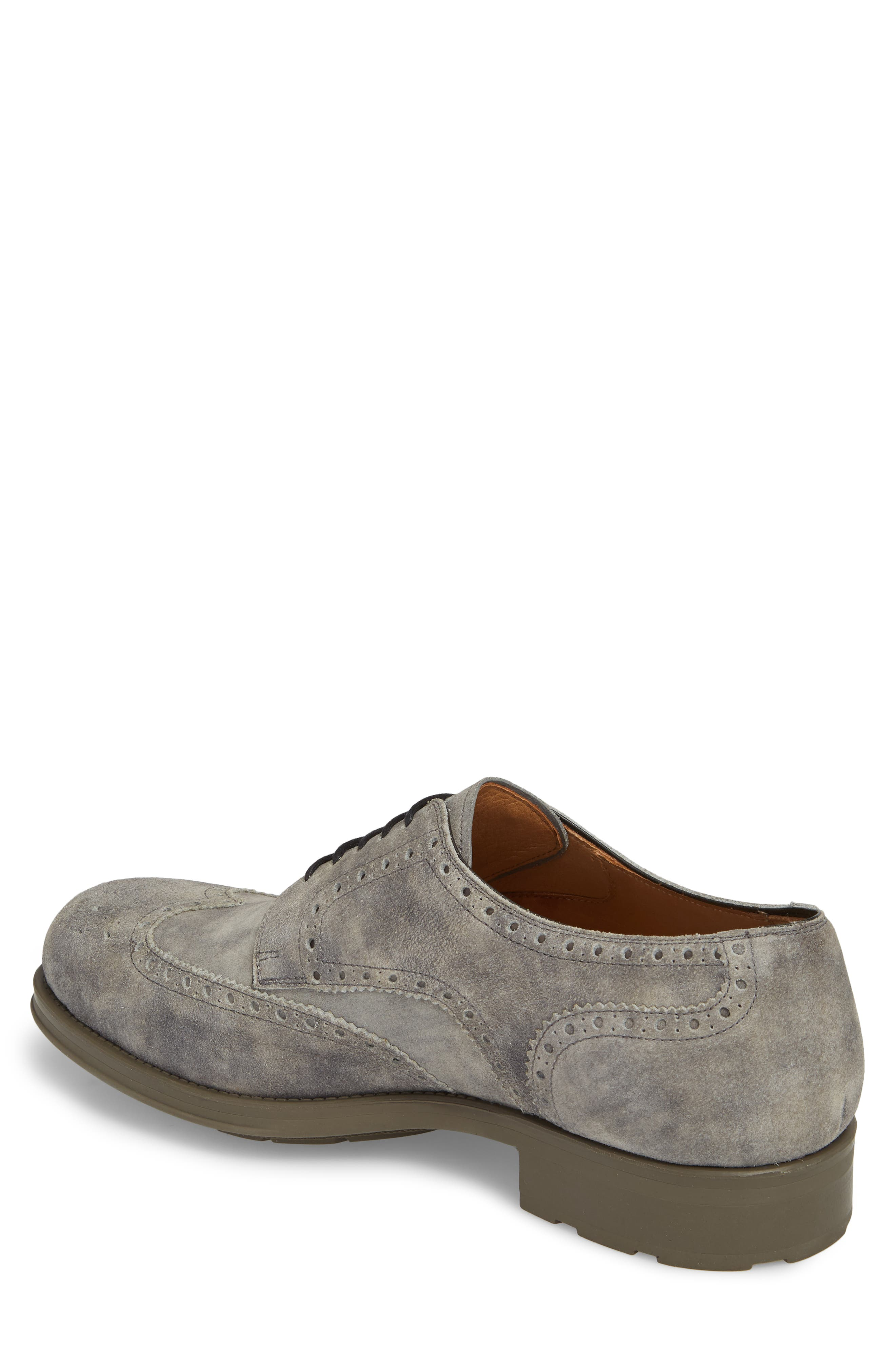 Tormo Wingtip,                             Alternate thumbnail 2, color,                             Grey Leather