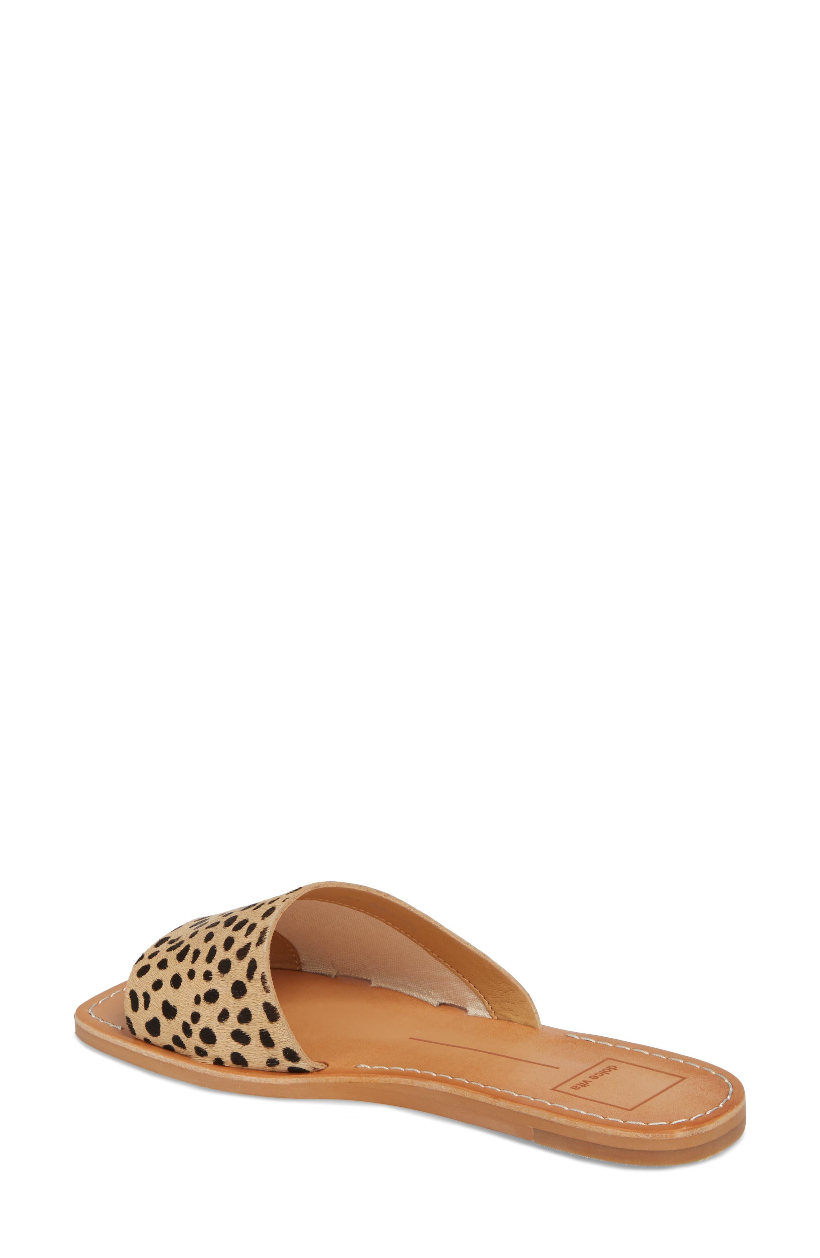 Cato Genuine Calf Hair Slide Sandal,                             Alternate thumbnail 2, color,                             Leopard Calf Hair