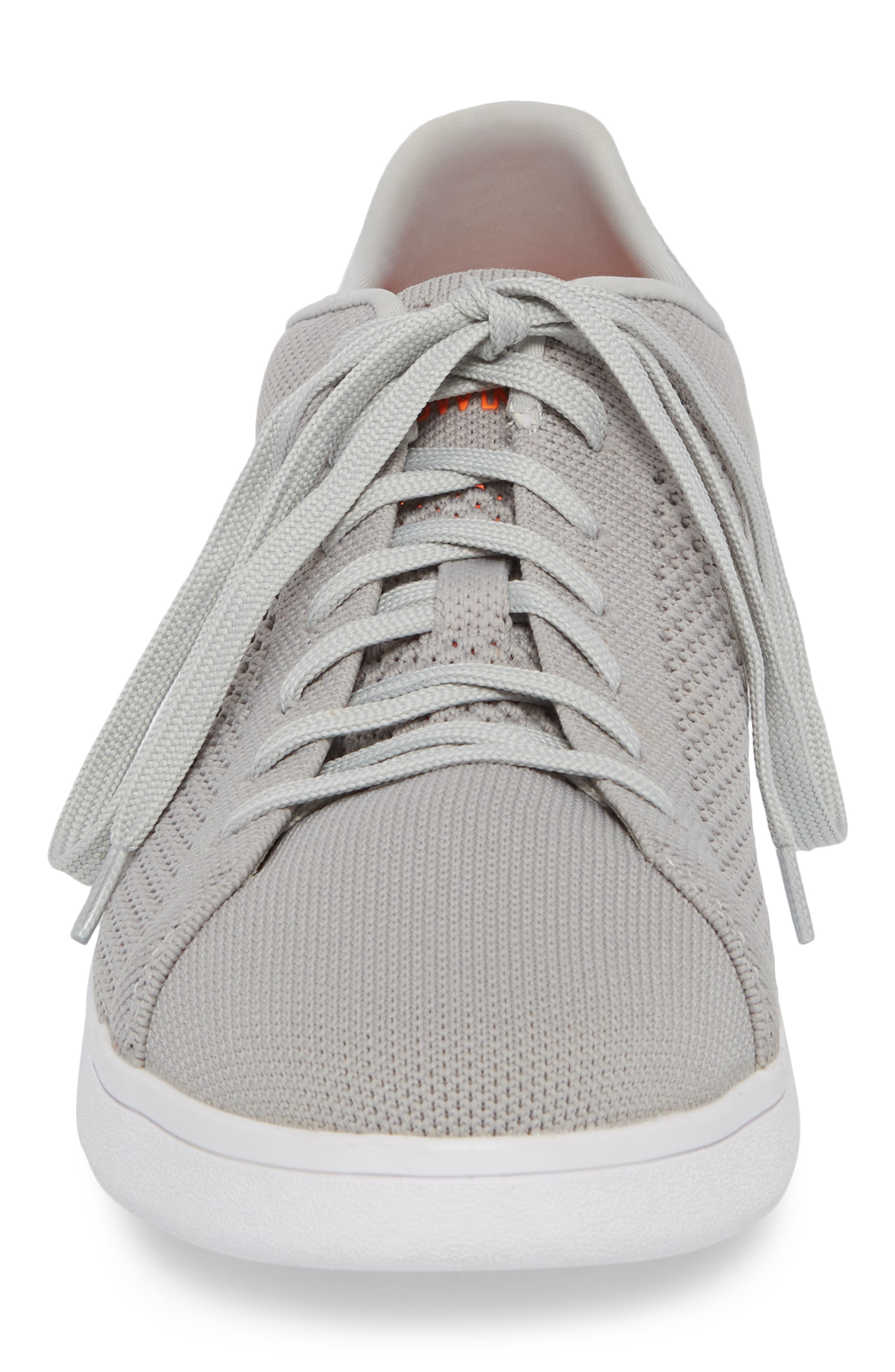Breeze Tennis Washable Knit Sneaker,                             Alternate thumbnail 4, color,                             Light Grey/ White Fabric