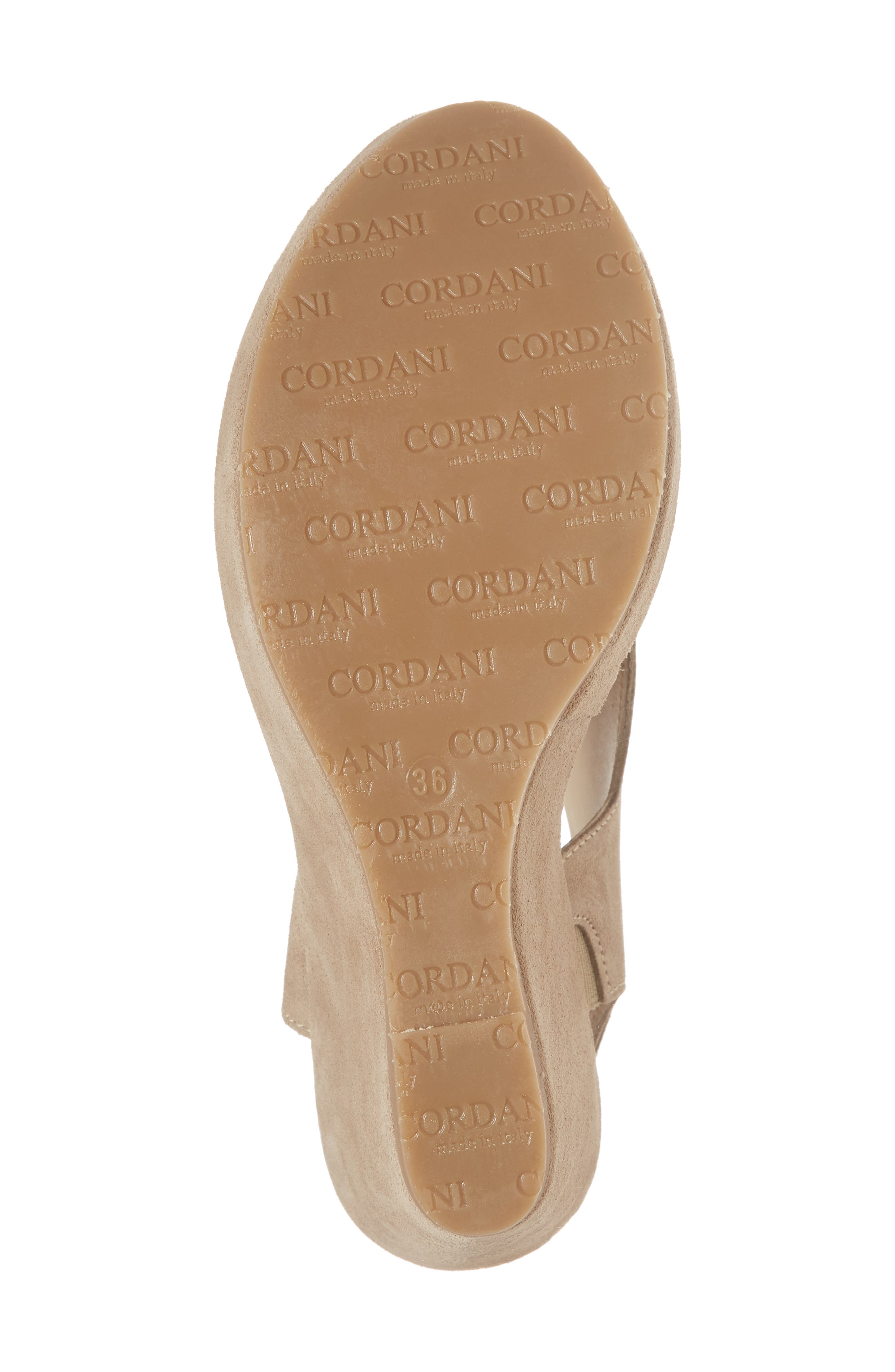 Reed Wedge Sandal,                             Alternate thumbnail 6, color,                             Corda Taupe Suede