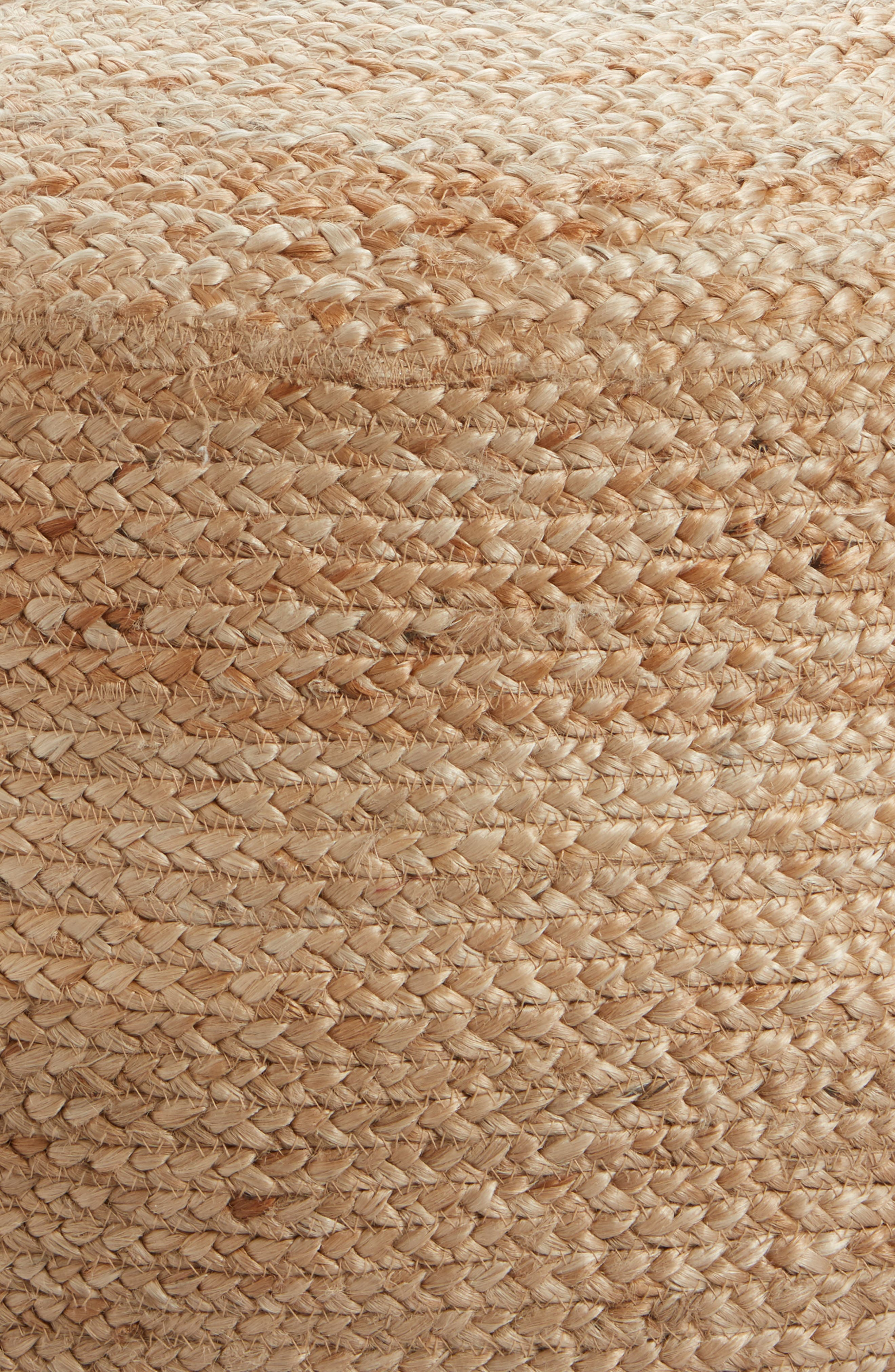 Indoor/Outdoor Jute Pouf,                             Alternate thumbnail 2, color,                             Natural