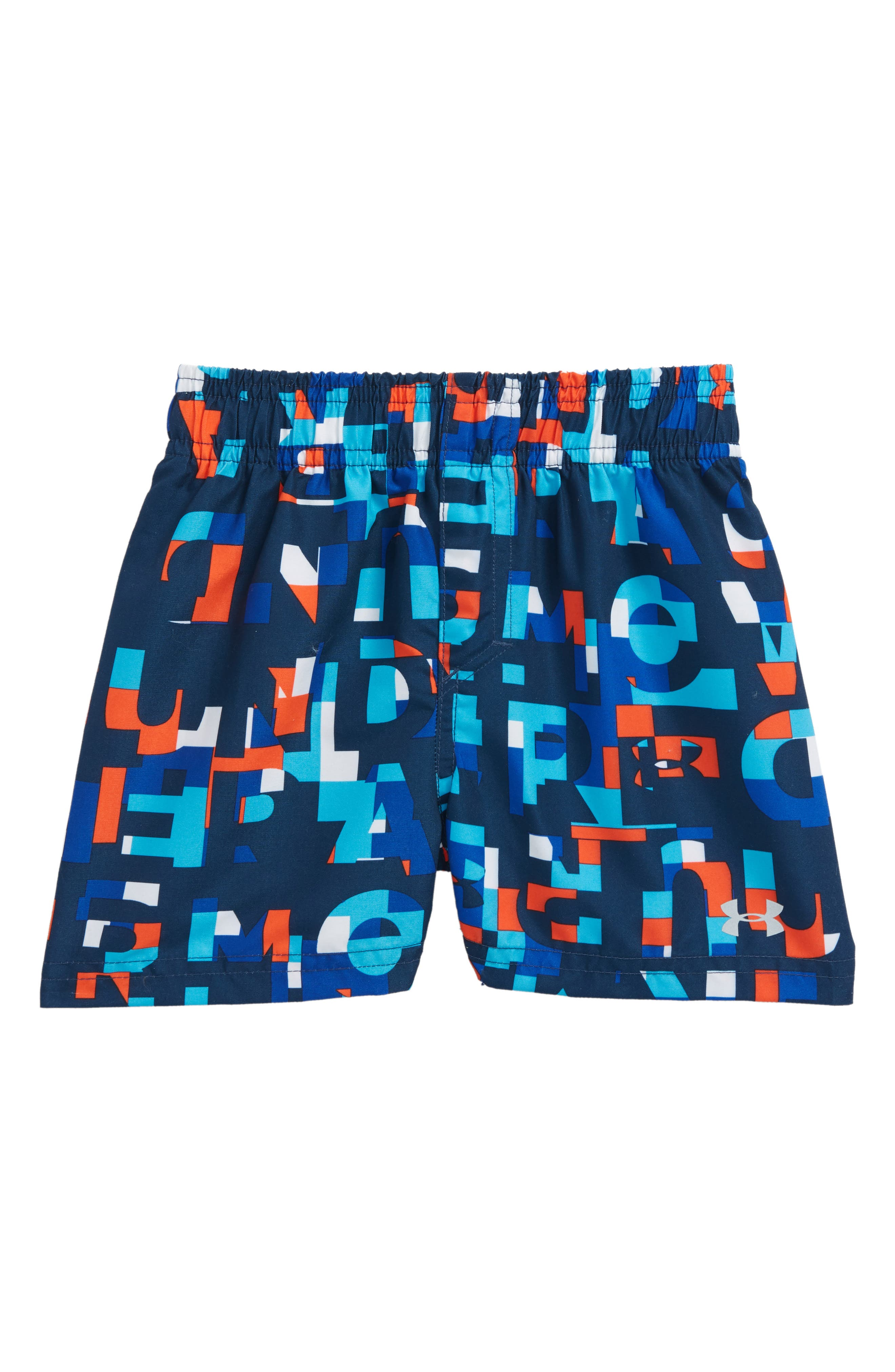 Main Image - Under Armour Word Toss Volley Swim Trunks (Baby Boys)