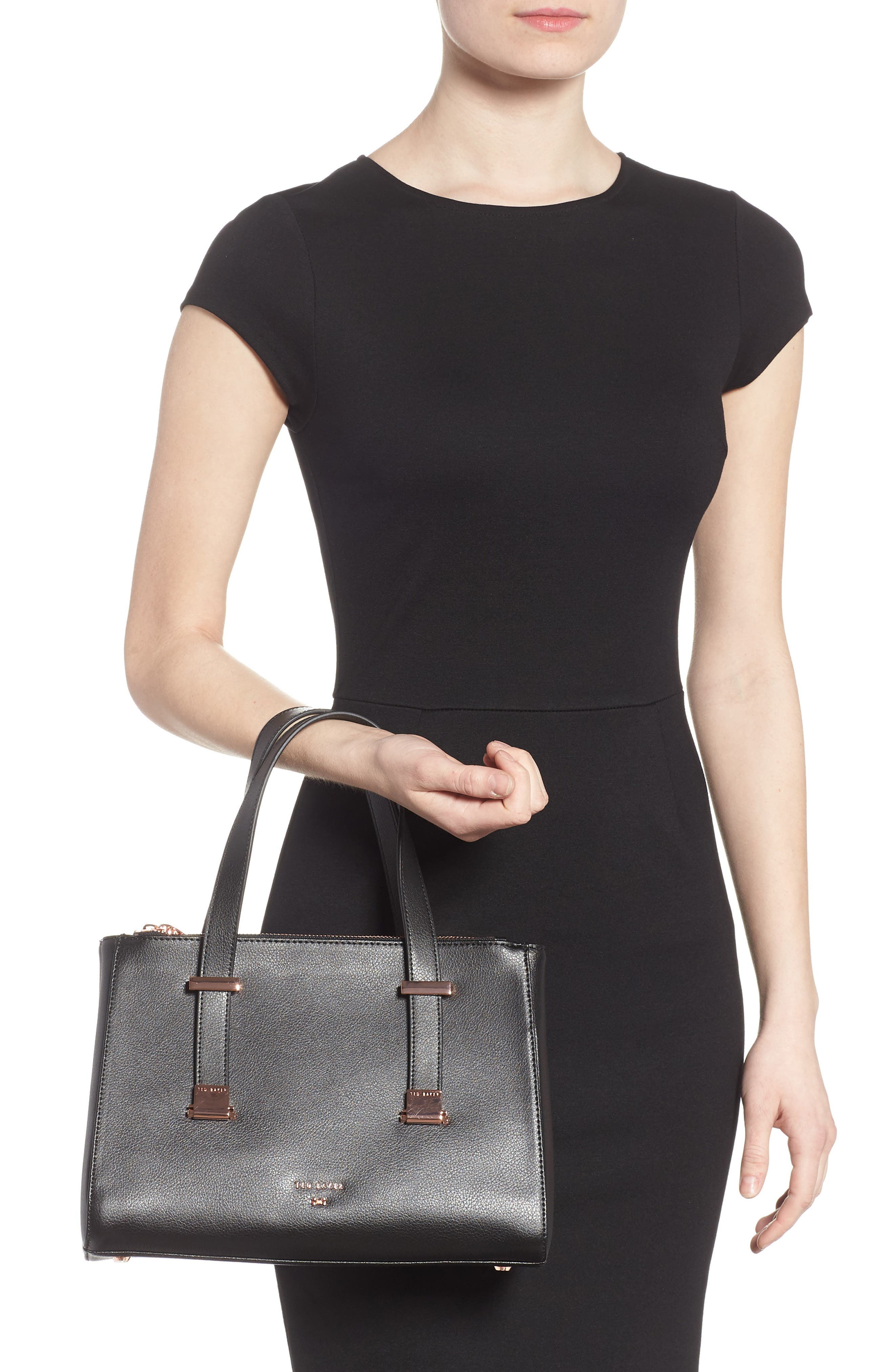 Alternate Image 2  - Ted Baker London Audreyy Small Adjustable Handle Leather Shopper