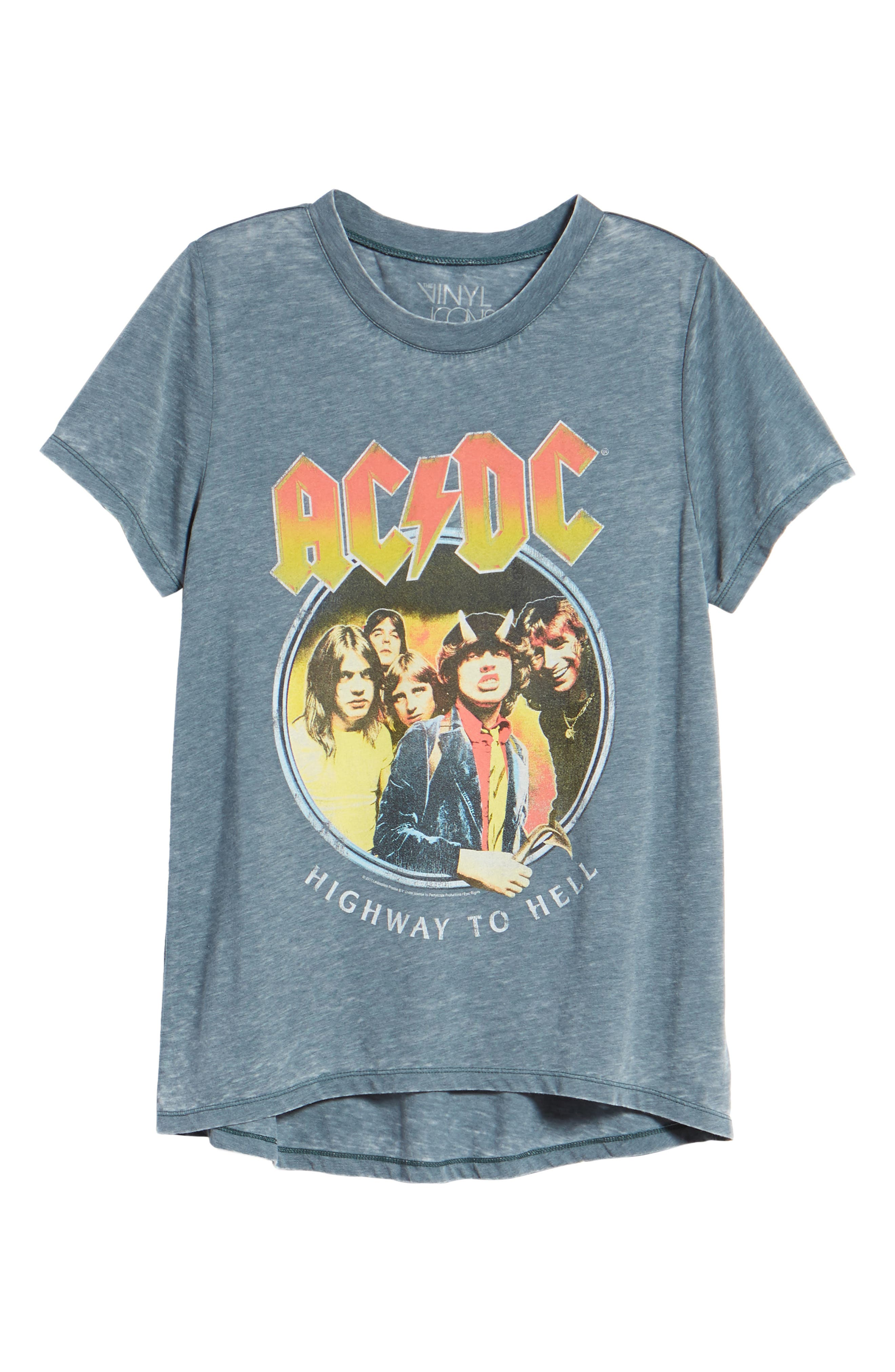 AC/DC Highway to Hell Tee,                             Alternate thumbnail 7, color,                             Washed Blue