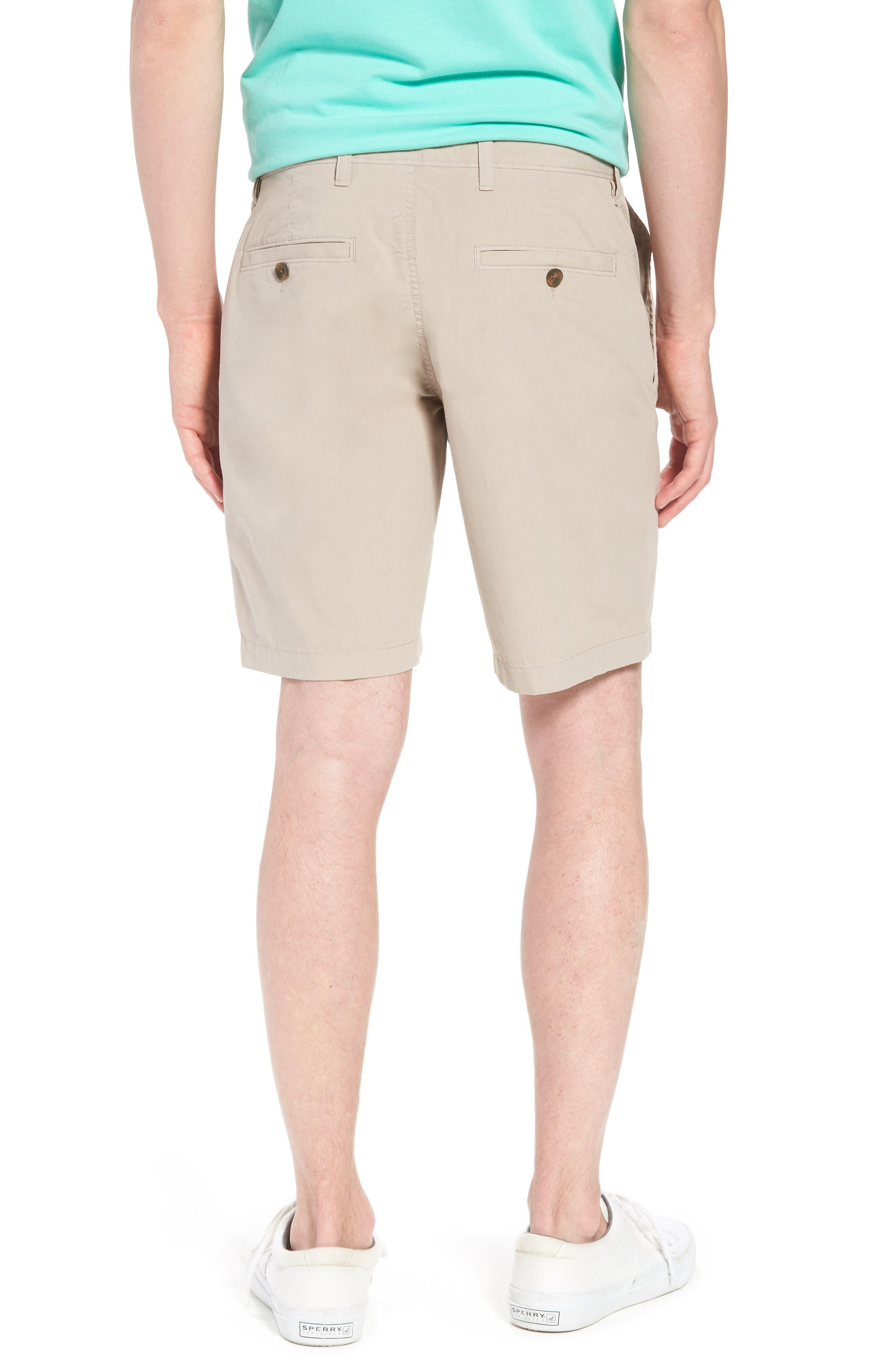 Stretch Poplin Shorts,                             Alternate thumbnail 2, color,                             Tan Thread