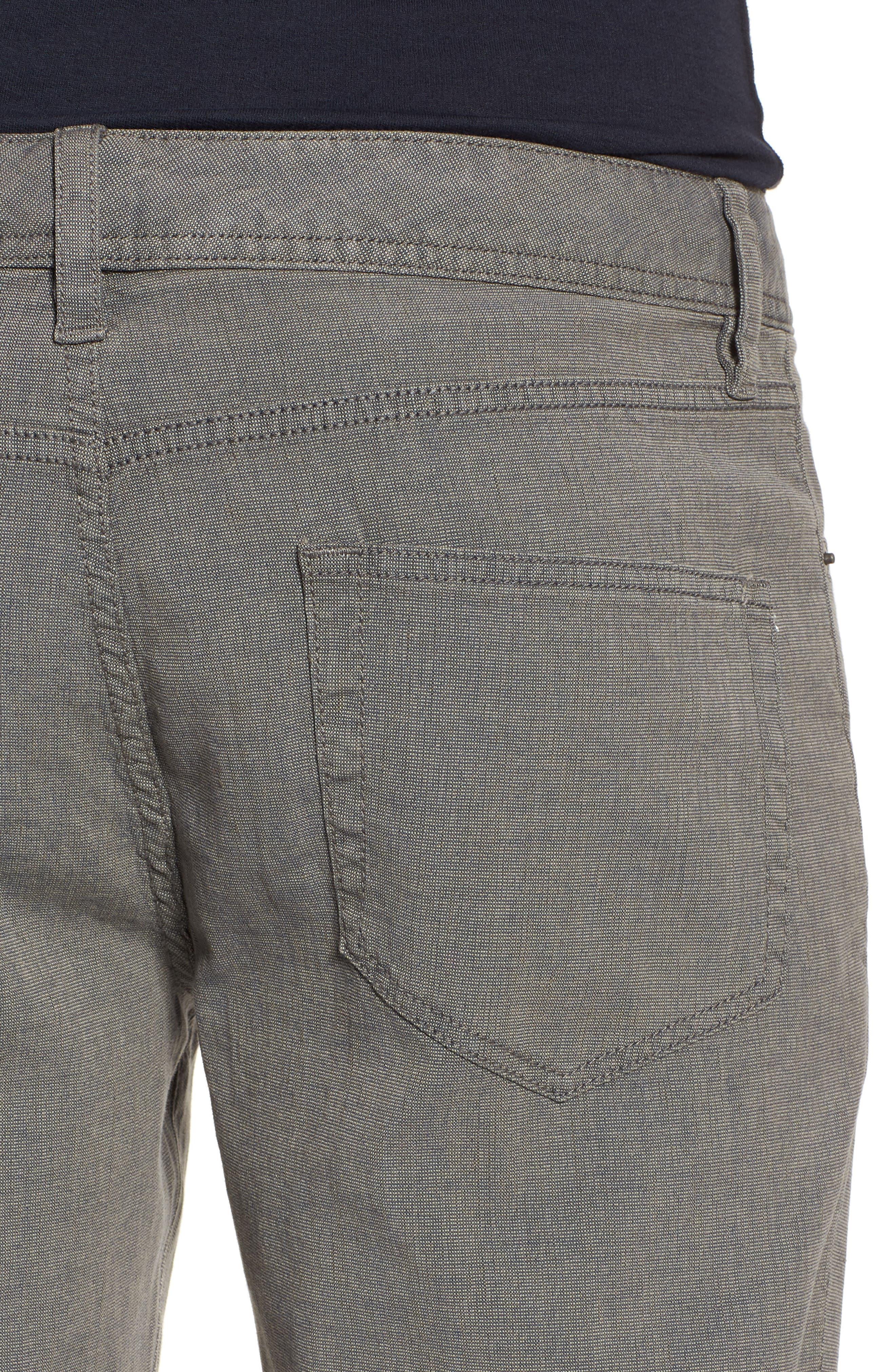 Straight Leg Five-Pocket Pants,                             Alternate thumbnail 4, color,                             Grey