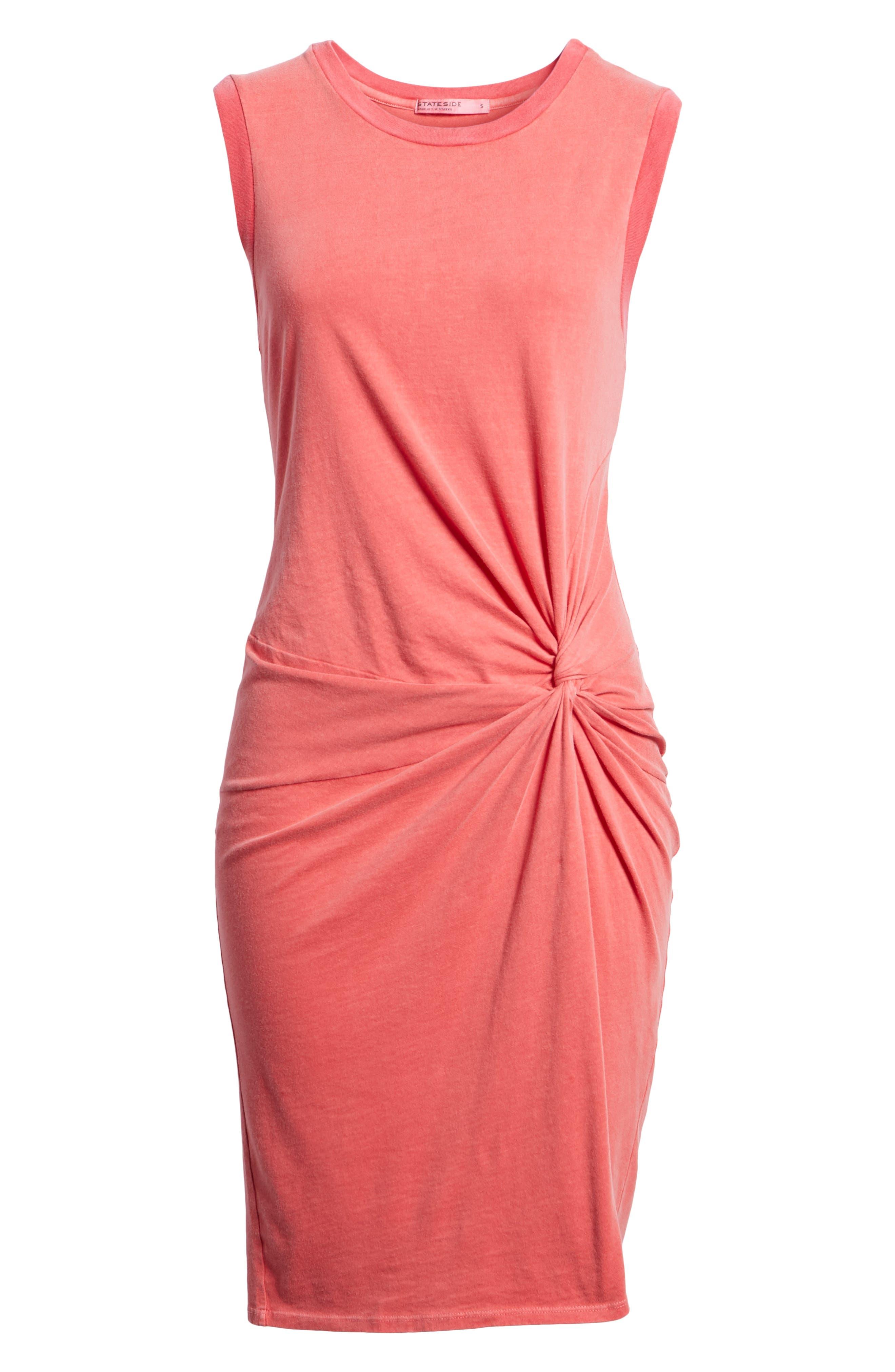 Twist Jersey Dress,                             Alternate thumbnail 7, color,                             Scarlet