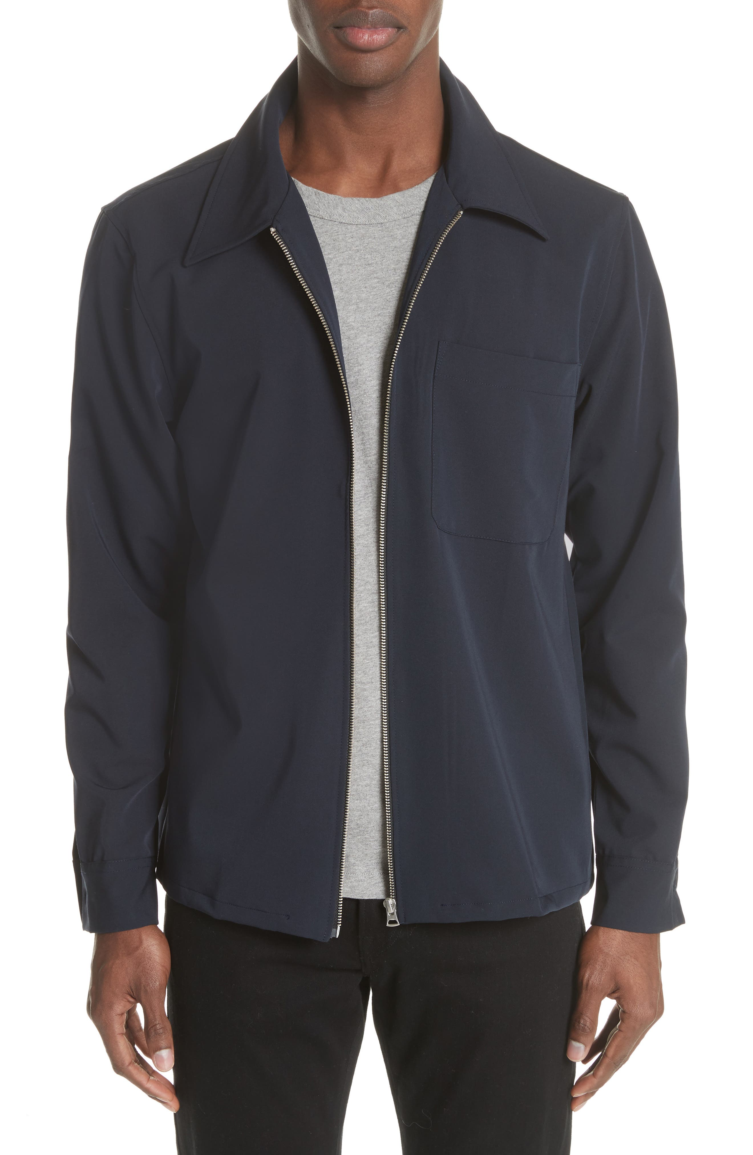 OUR LEGACY Gabardine Zip Shirt Jacket