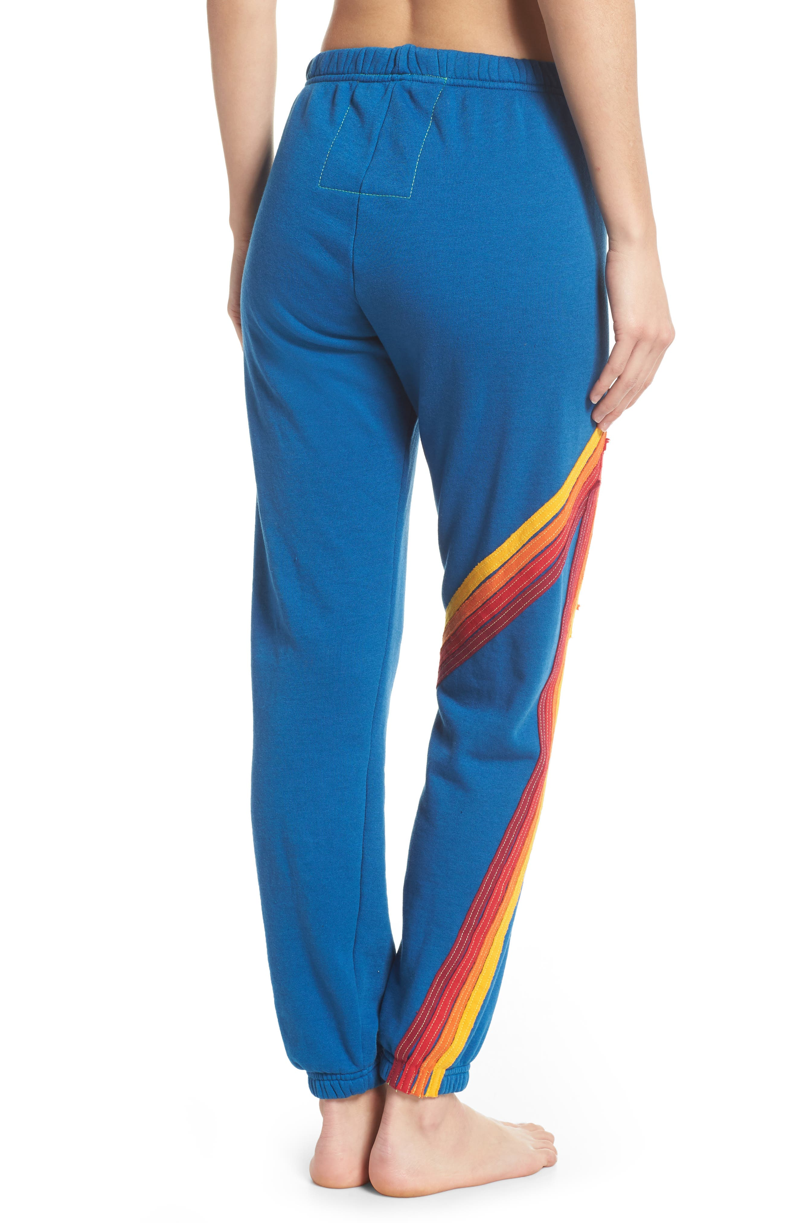 Blaze 4 Sweatpants,                             Alternate thumbnail 2, color,                             Caribbean/ Red Stripe