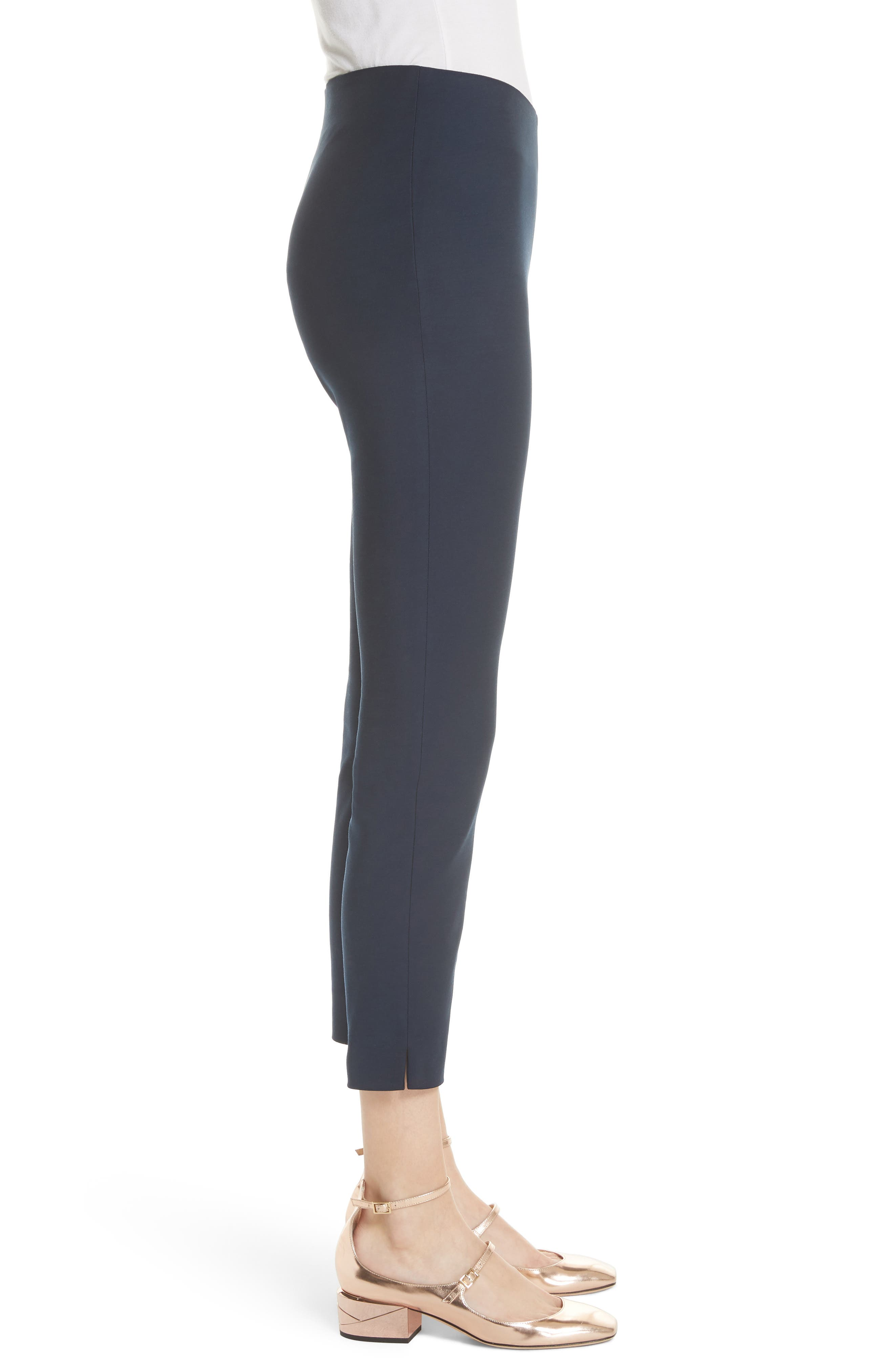 Side Zip Skinny Pants,                             Alternate thumbnail 3, color,                             Dark Blue