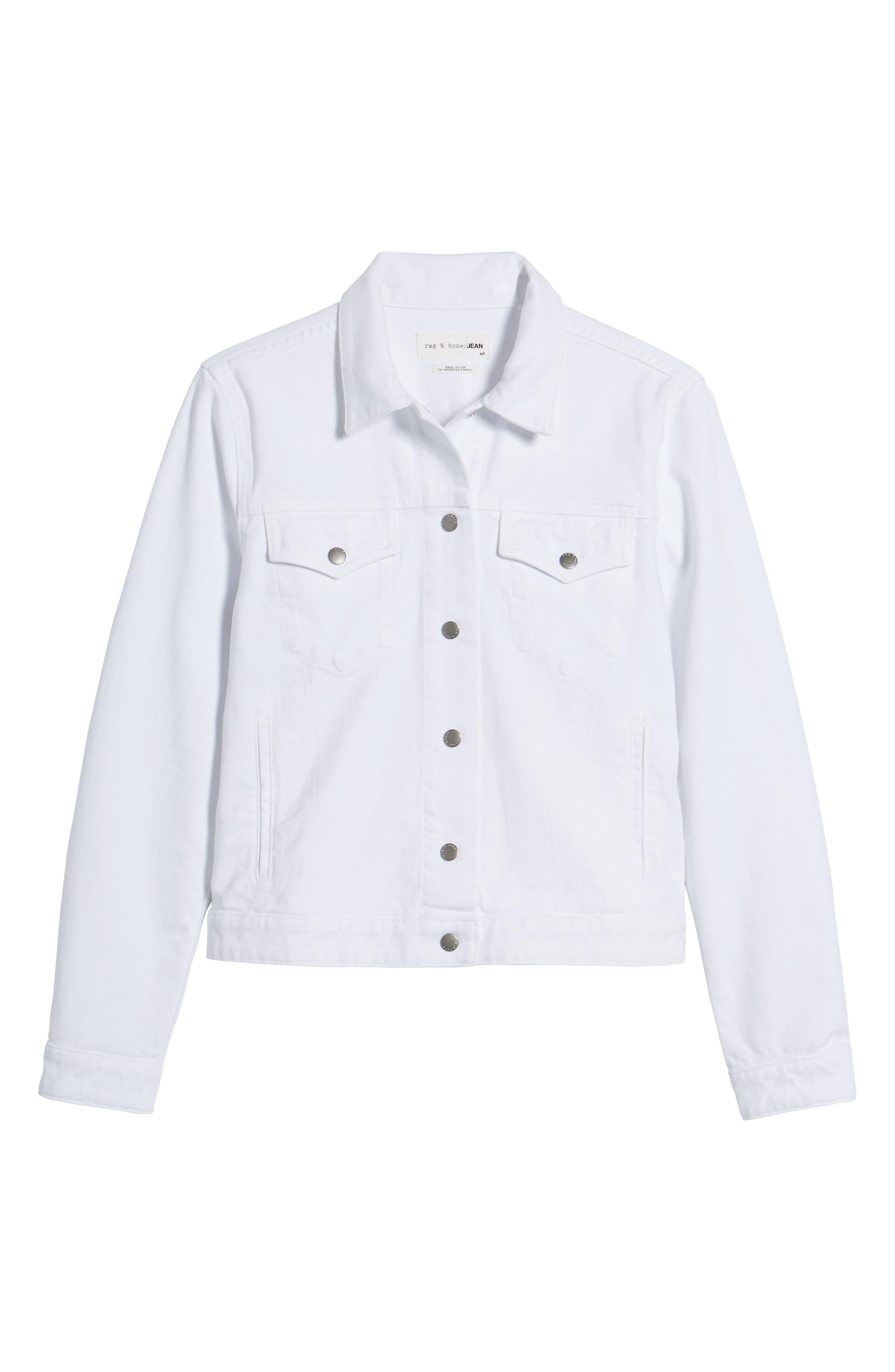 Nico Denim Jacket,                             Alternate thumbnail 7, color,                             White