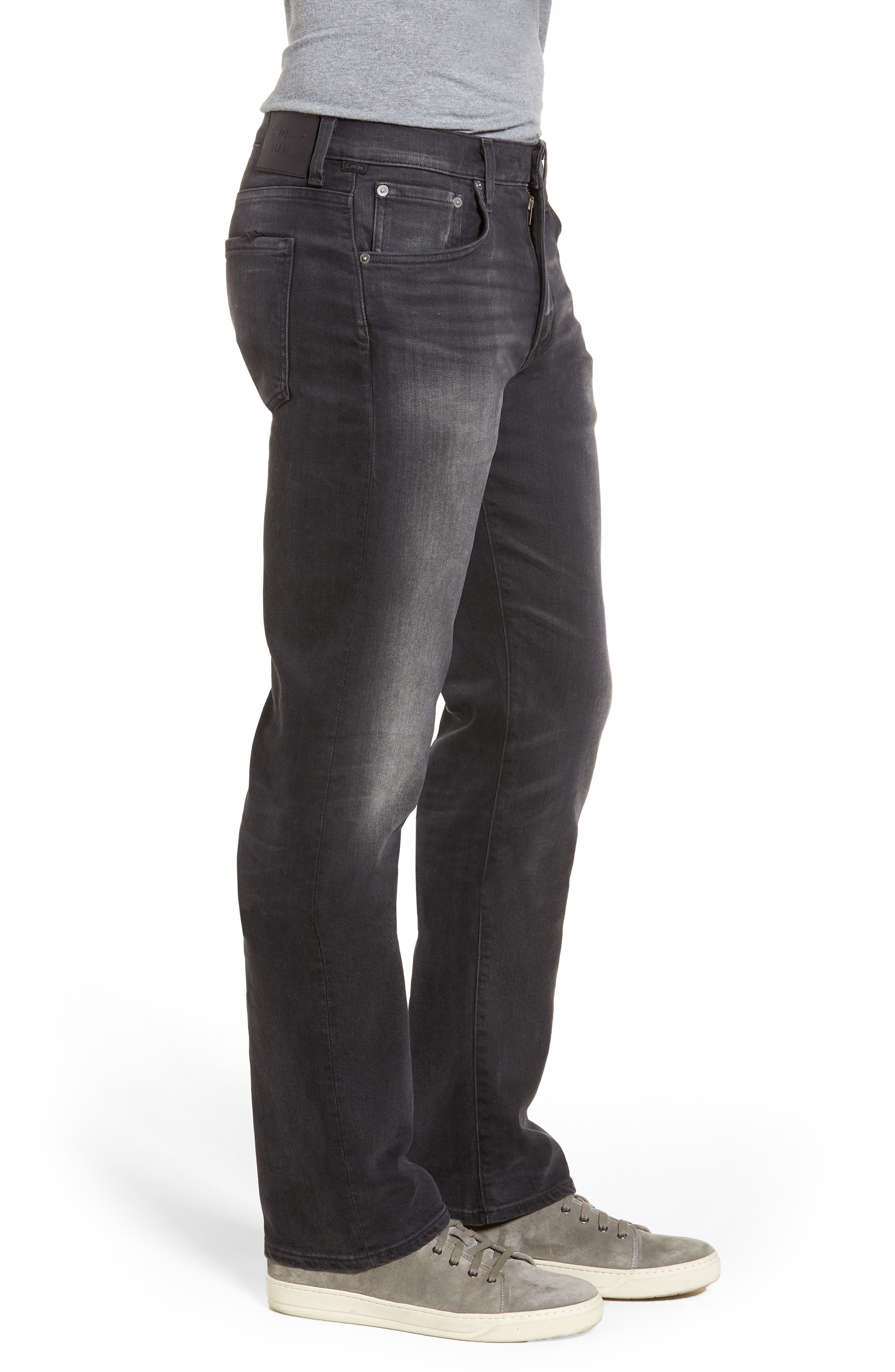 Side Straight Leg Jeans,                             Alternate thumbnail 3, color,                             Lyric