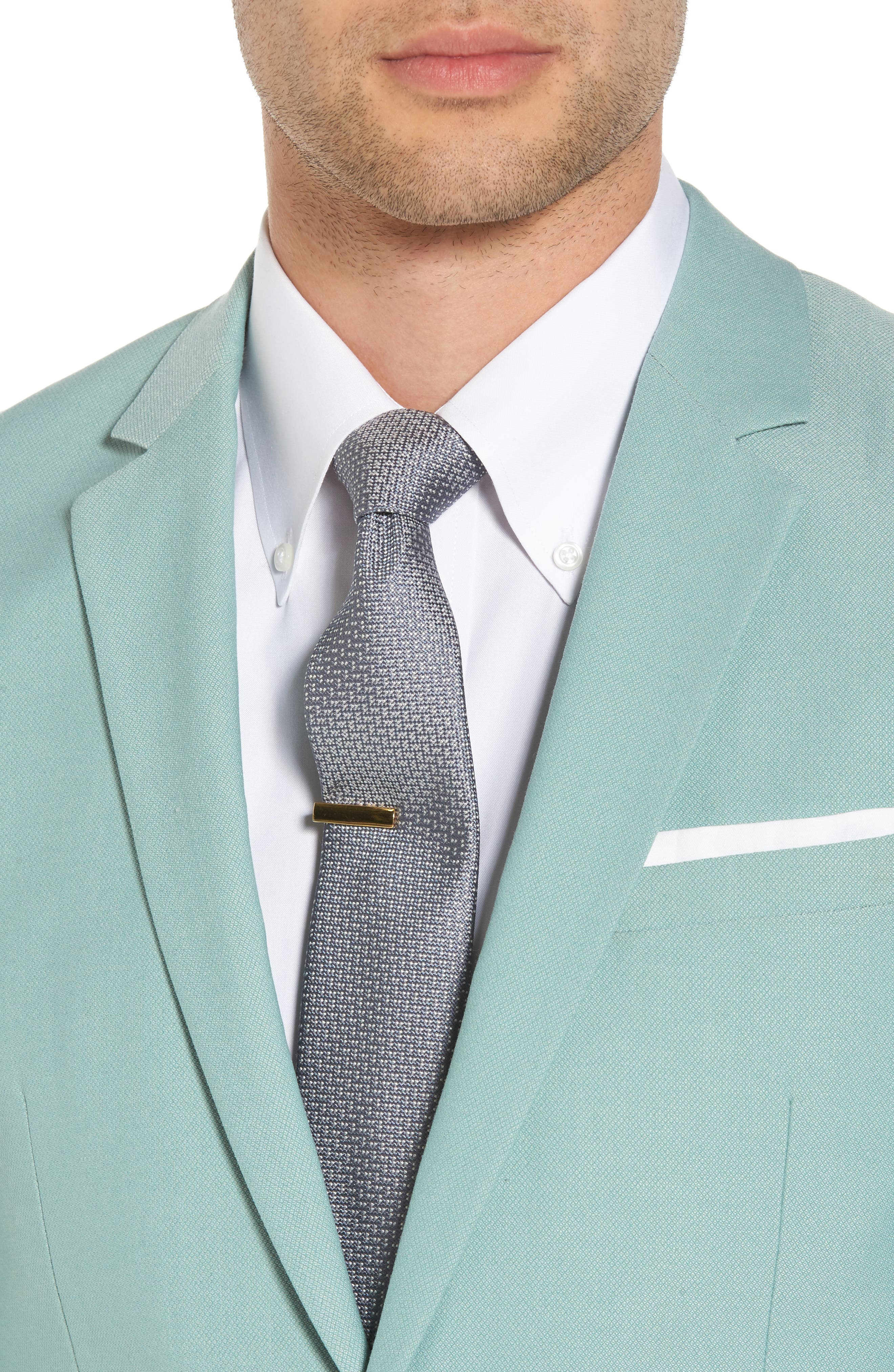 Skinny Fit Suit Jacket,                             Alternate thumbnail 5, color,                             Green