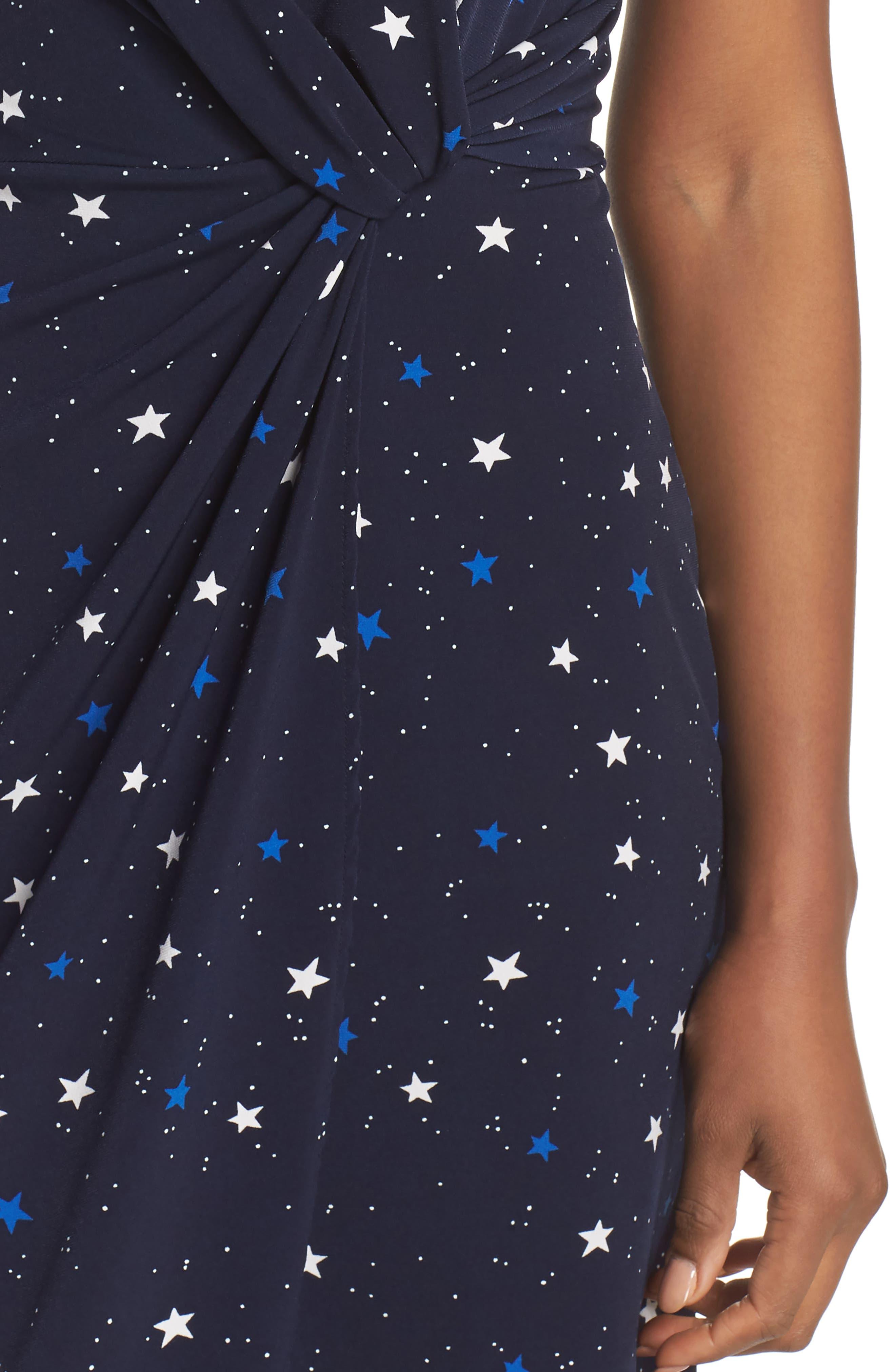 Mini Twist Dress,                             Alternate thumbnail 4, color,                             Galaxy
