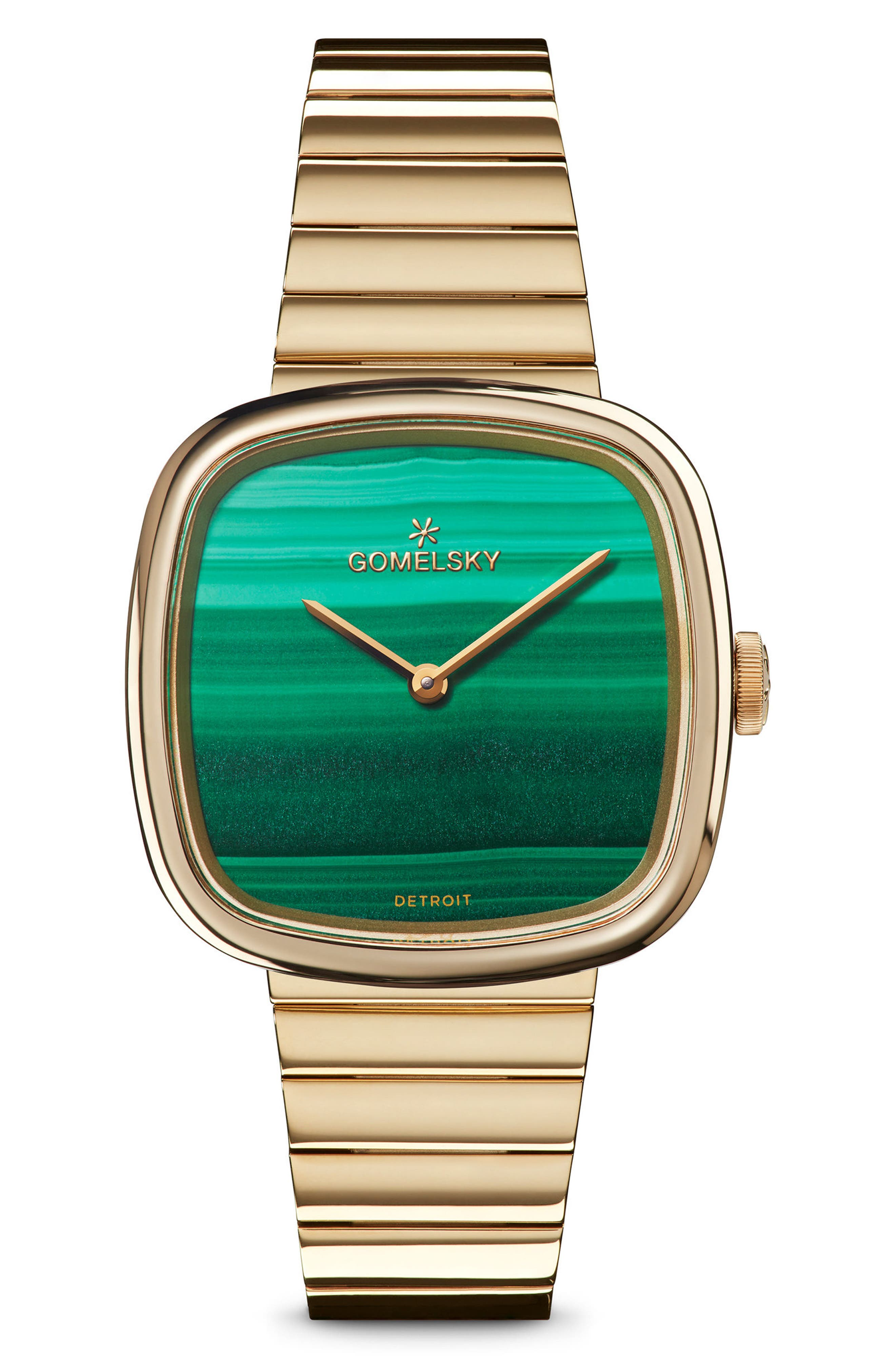 The Eppie Sneed Bracelet Watch, 32mm,                             Main thumbnail 1, color,                             Gold/ Malachite/ Gold
