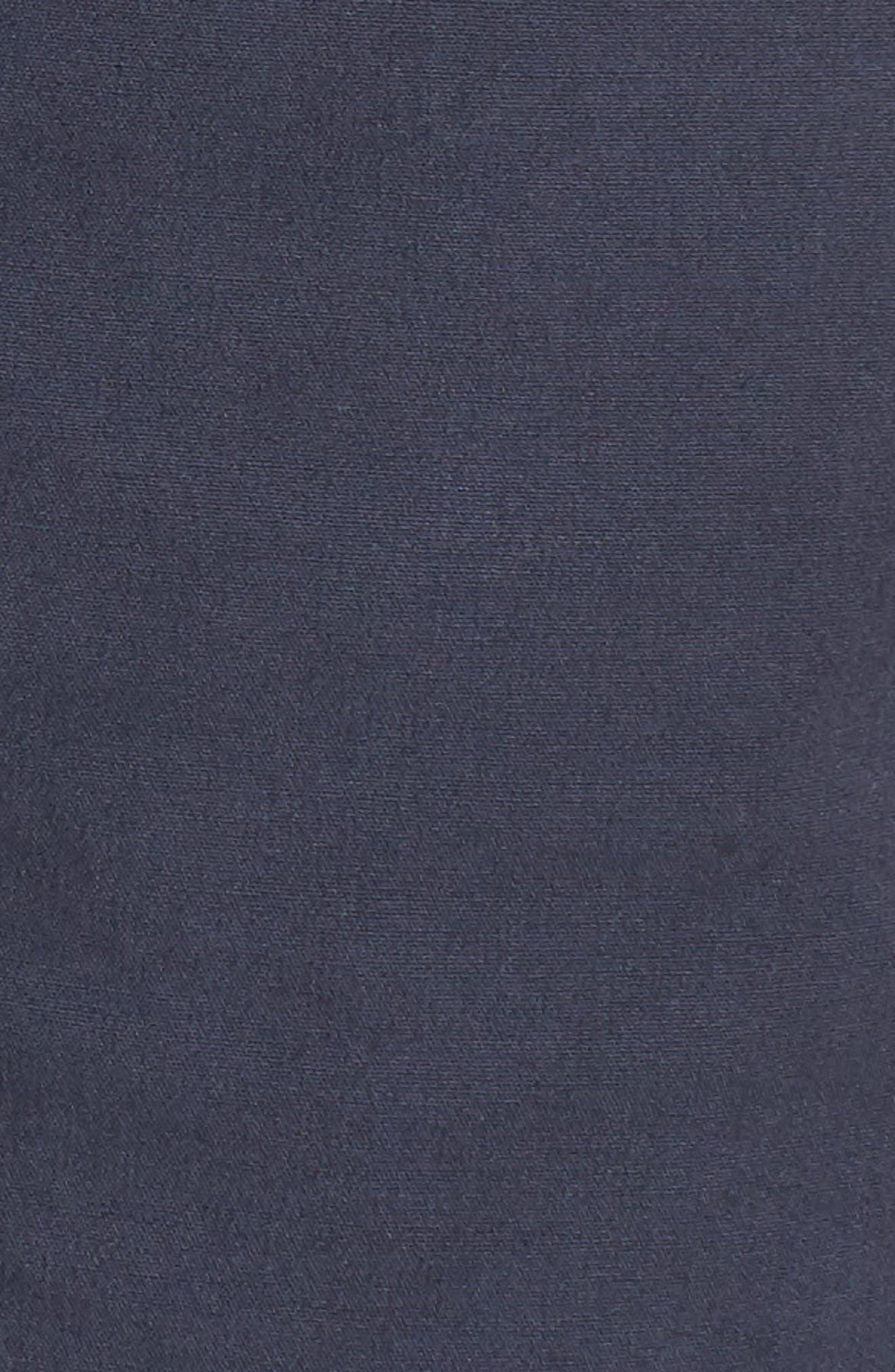 Stretch Poplin Shorts,                             Alternate thumbnail 5, color,                             Navy