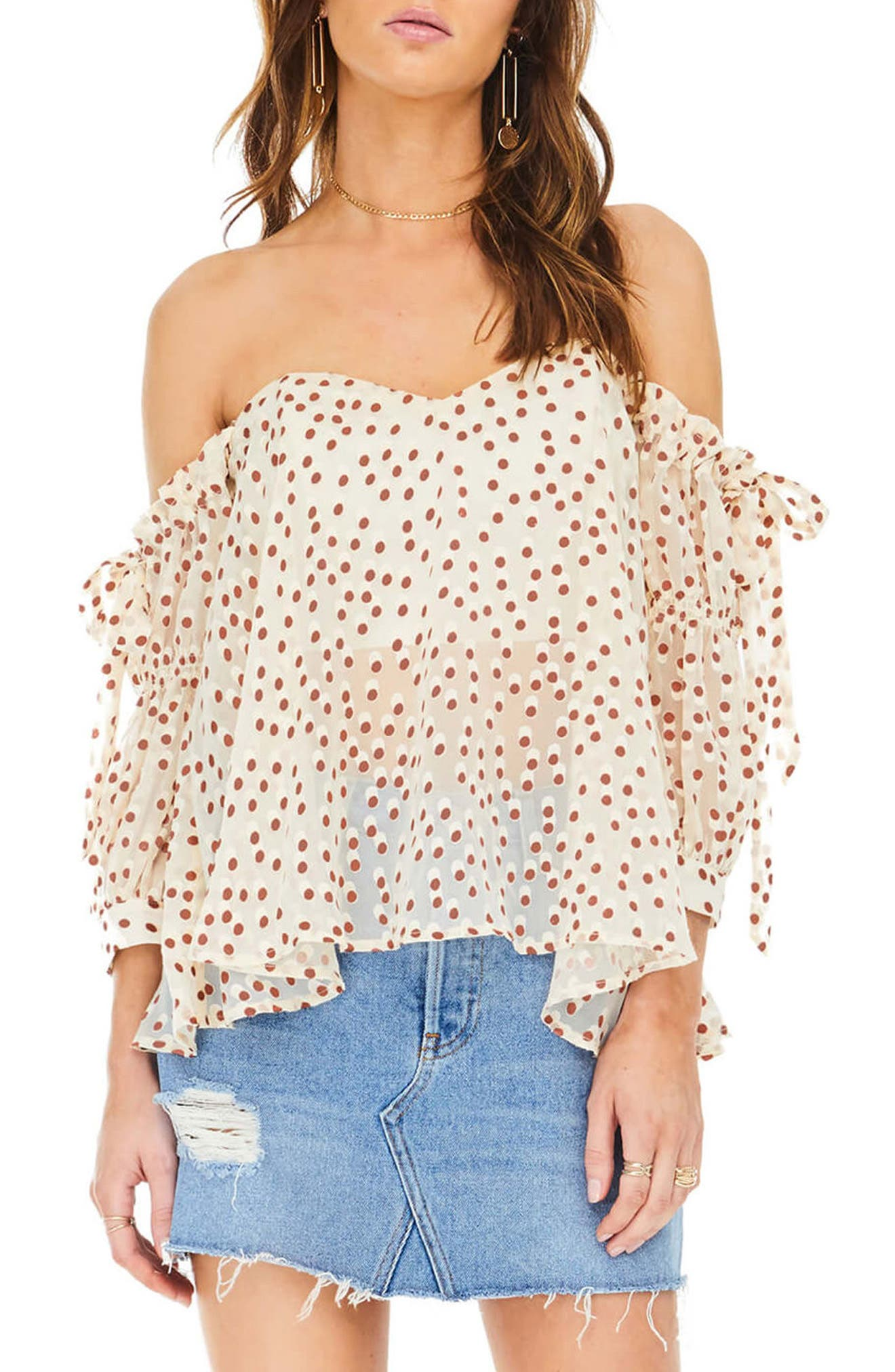 ASTR the Label Jillian Off the Shoulder Top
