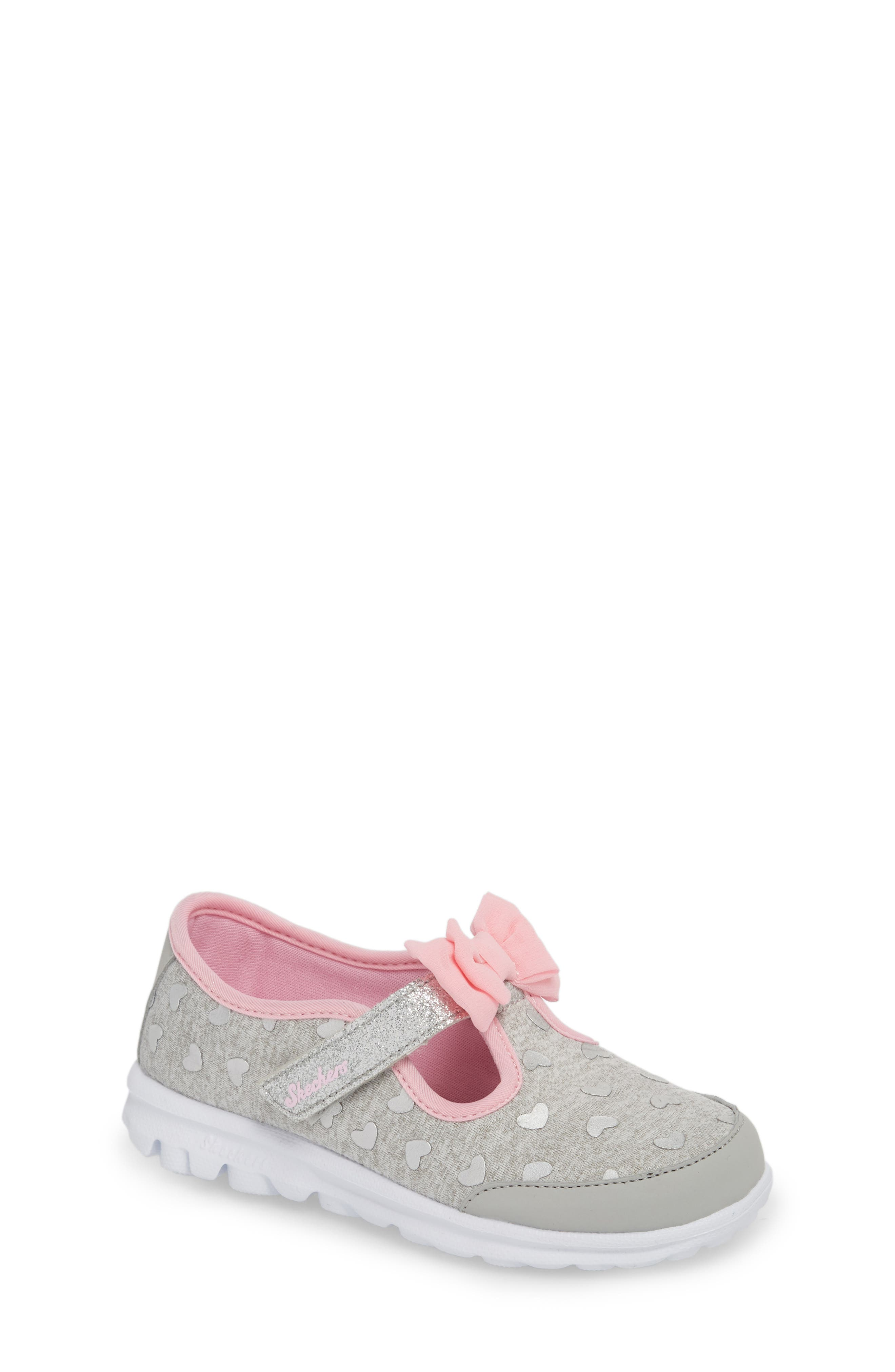 Go Walk Slip-On Sneaker,                         Main,                         color, Grey/ Pink Heather Jersey
