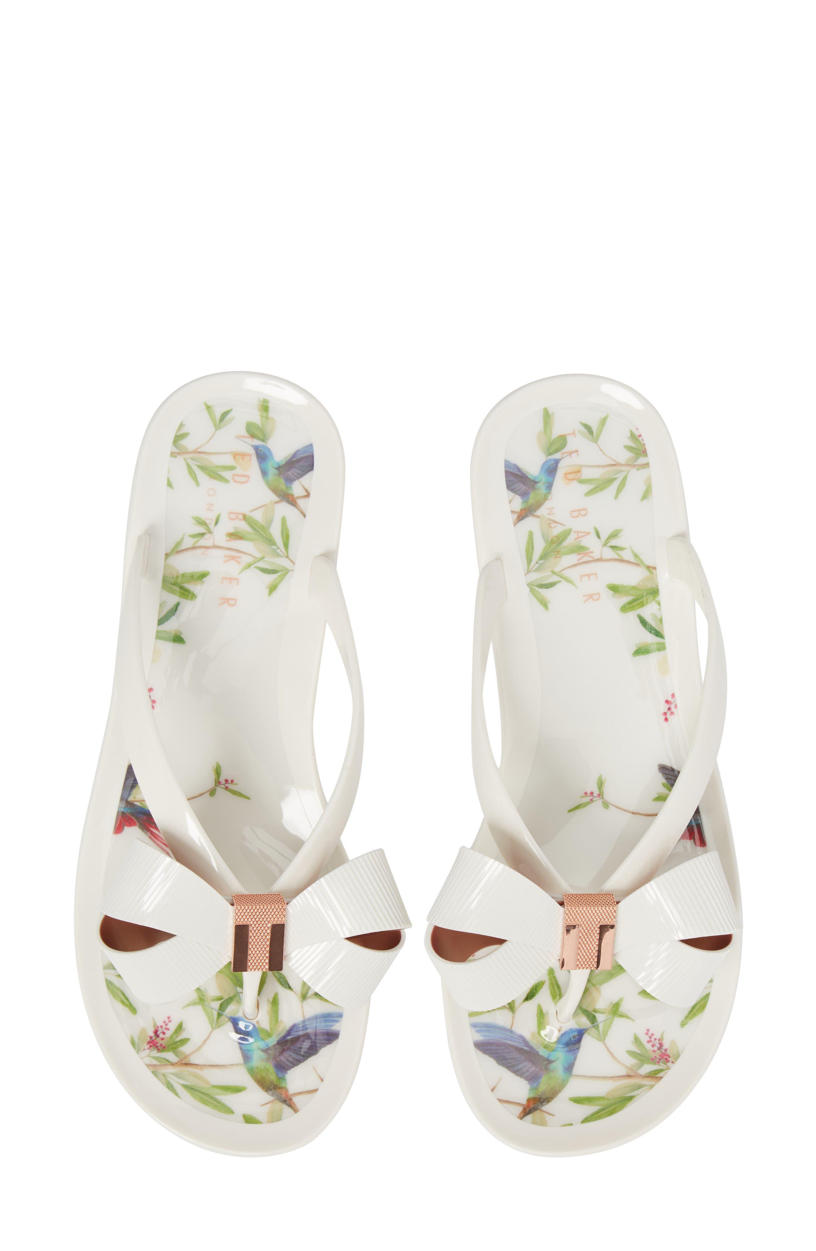 Suziep Flip Flop,                         Main,                         color, Highgrove Hummingbird Print