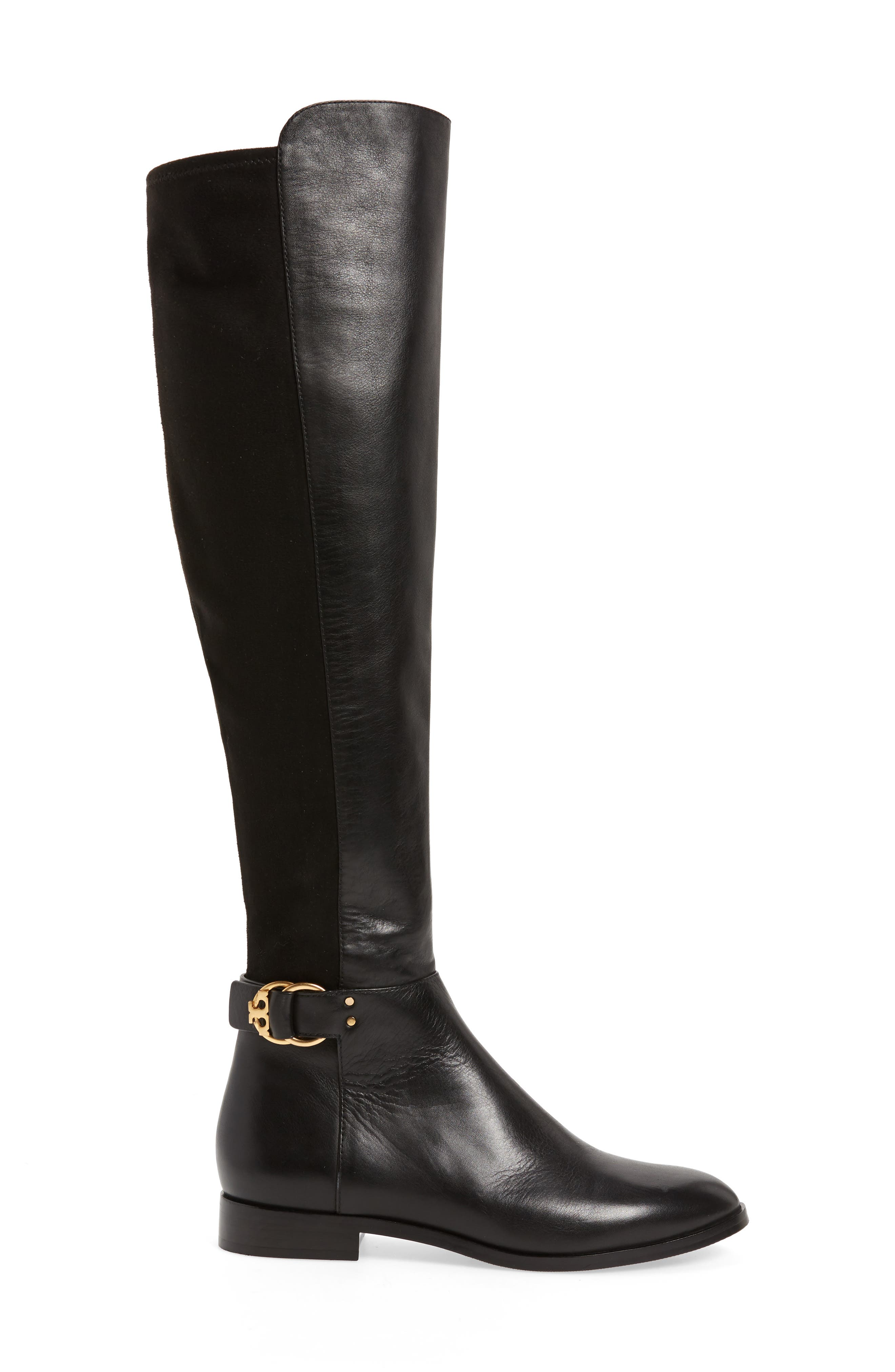 Marsden Over the Knee Boot,                             Alternate thumbnail 3, color,                             Perfect Black