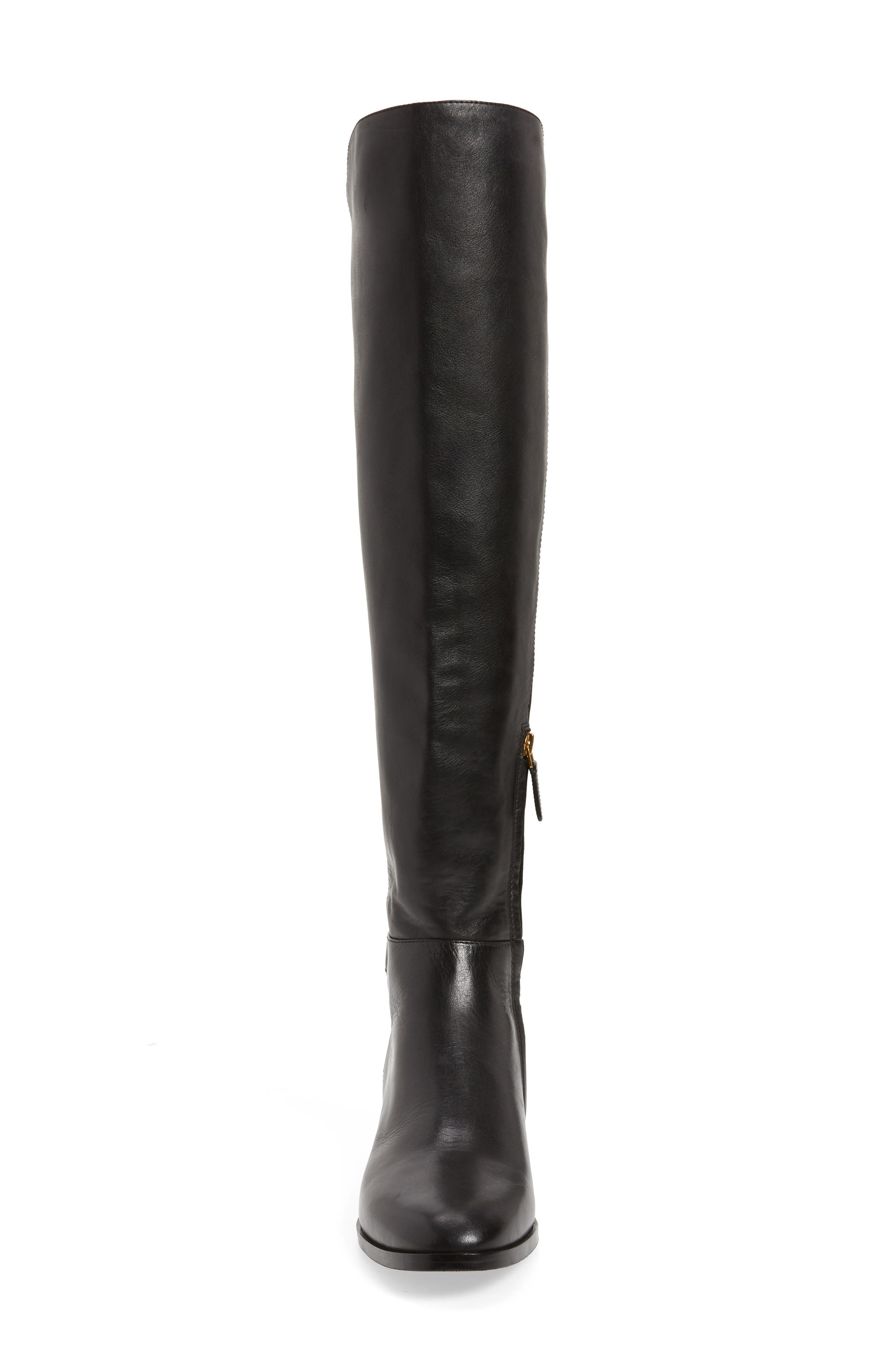 Marsden Over the Knee Boot,                             Alternate thumbnail 4, color,                             Perfect Black