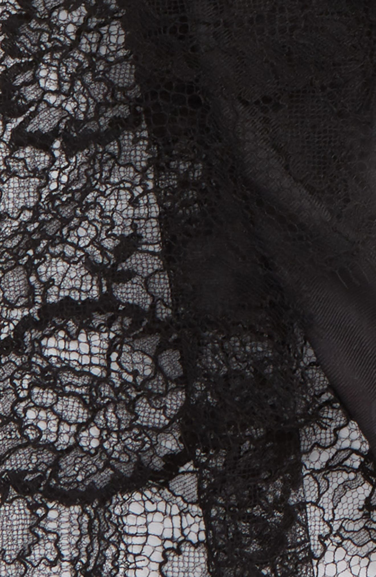 Lace Trim Modal & Cashmere Scarf,                             Alternate thumbnail 3, color,                             Nero/ Nero
