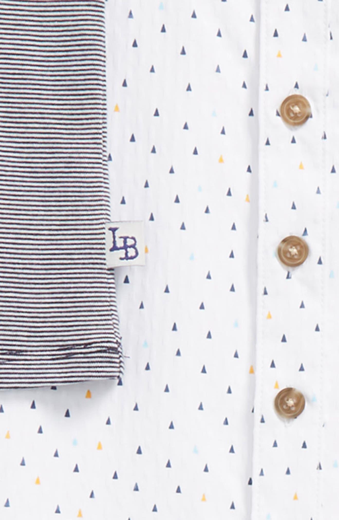 Tank Top, Woven Shirt & Khakis Set,                             Alternate thumbnail 2, color,                             White