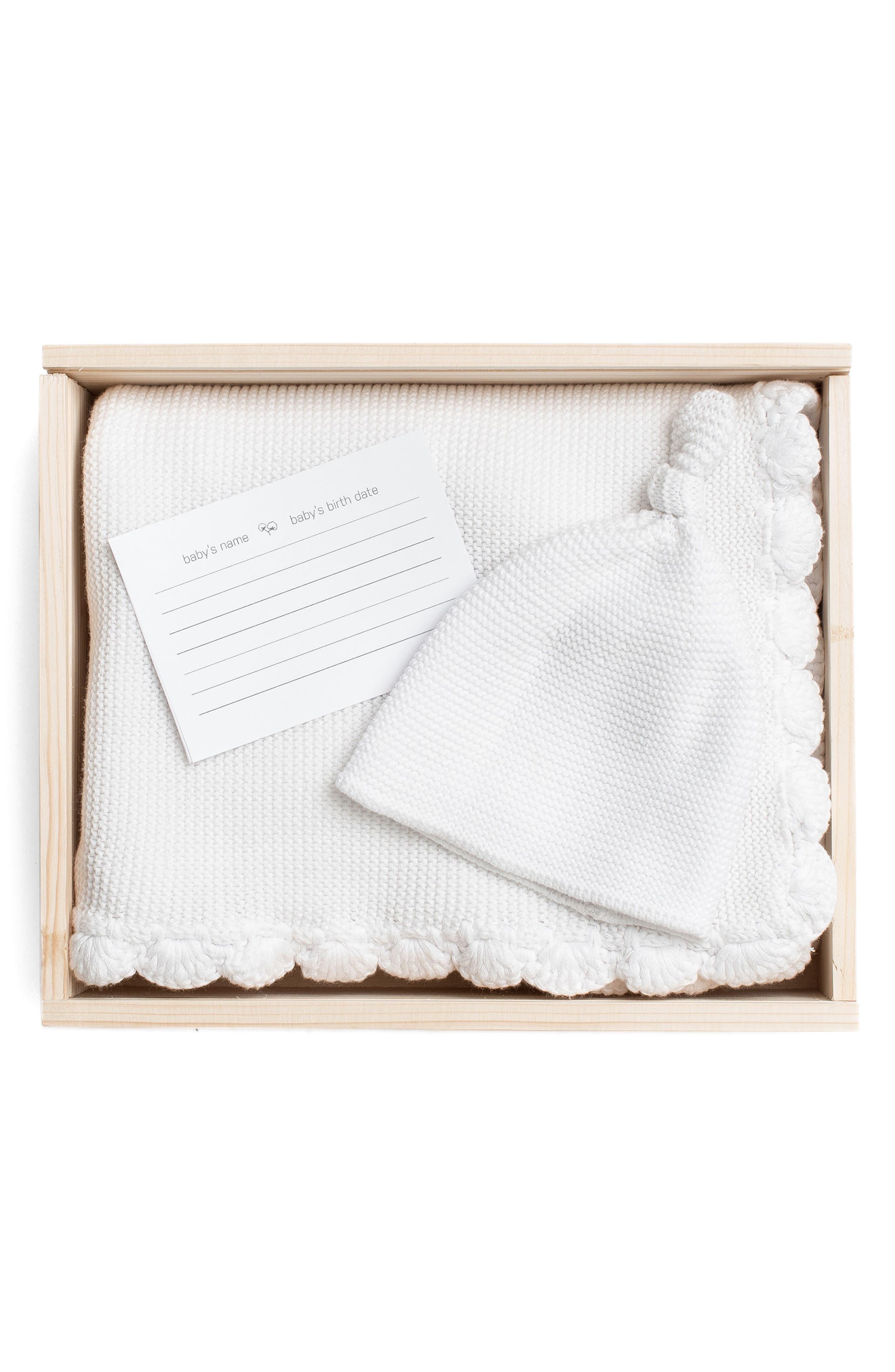 Lil Lemon by zestt Heirloom Organic Cotton Blanket & Hat Gift Set