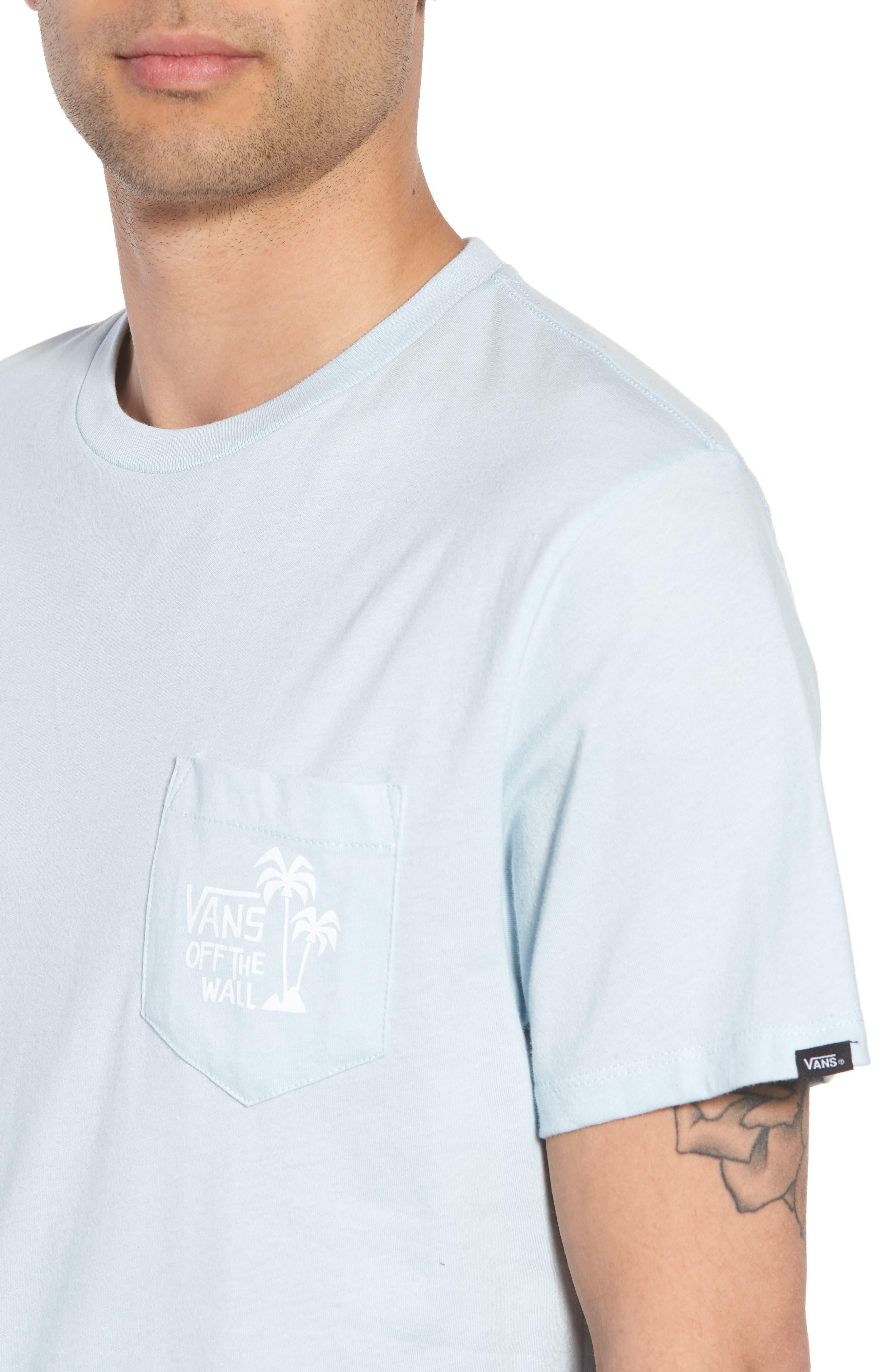 Yusuke Palms Graphic T-Shirt,                             Alternate thumbnail 4, color,                             Baby Blue