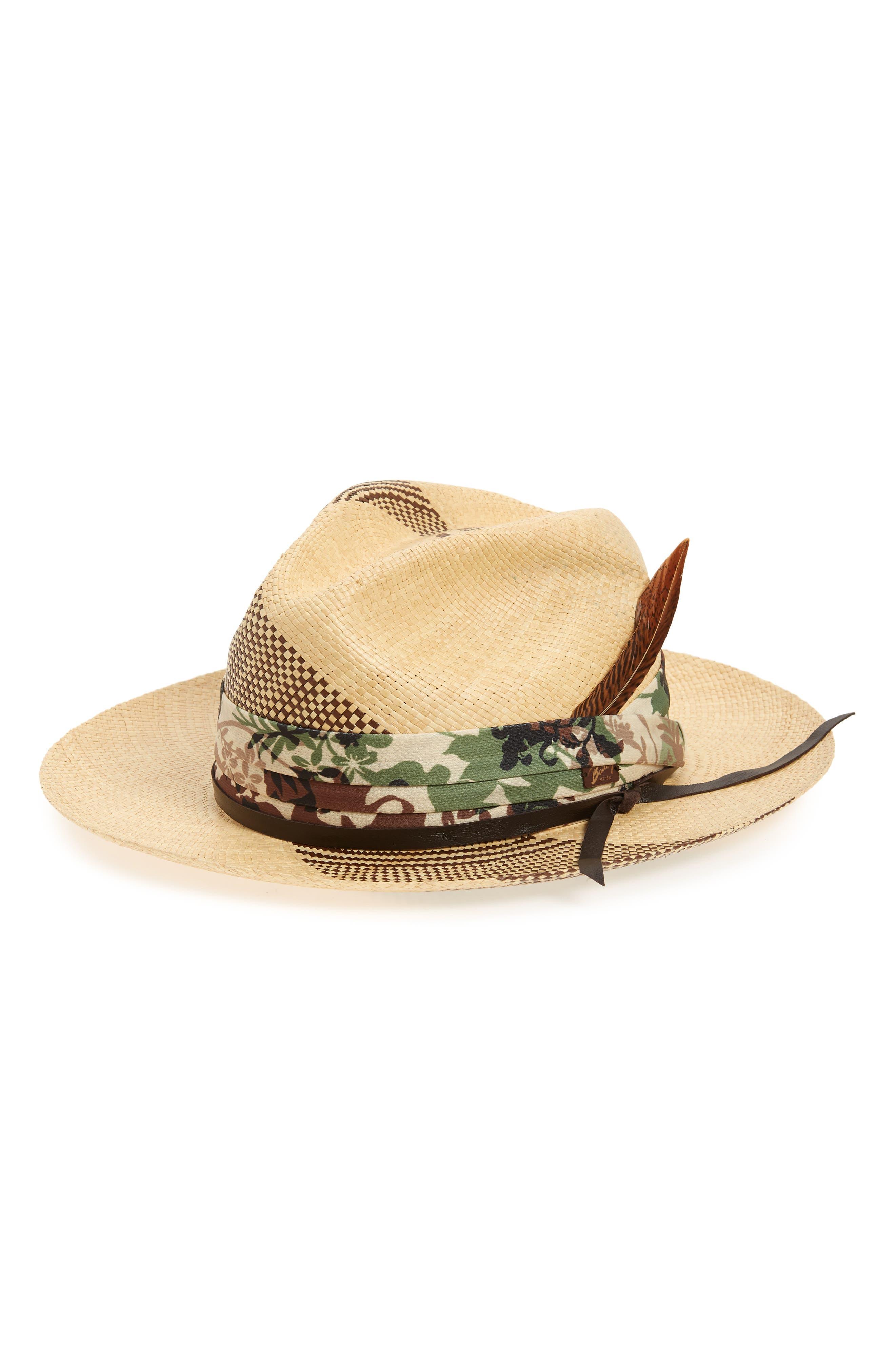 Rayney Straw Panama Hat,                         Main,                         color, Natural/ Brown