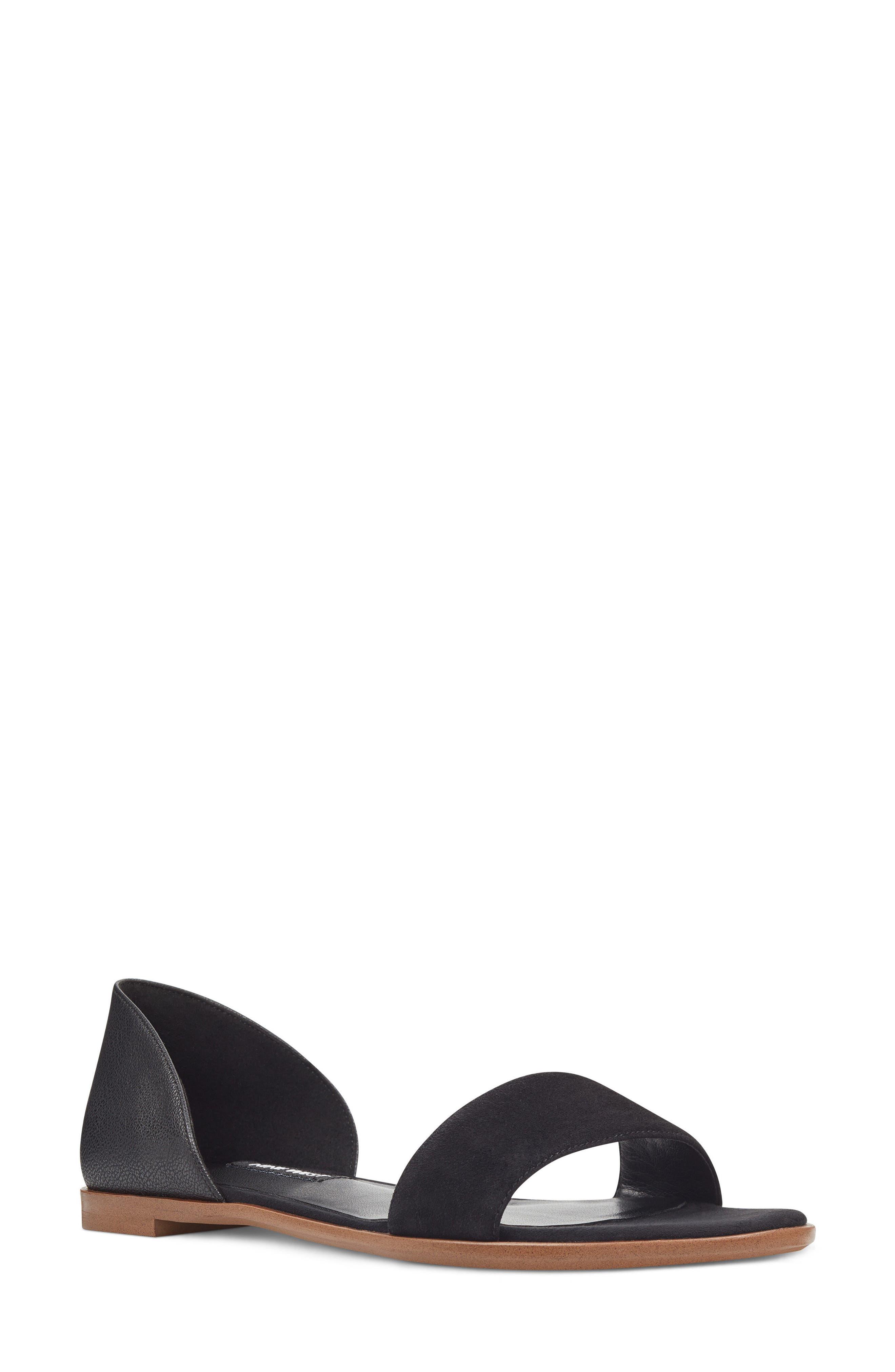 Maris Sandal,                         Main,                         color, Black/ Black Leather
