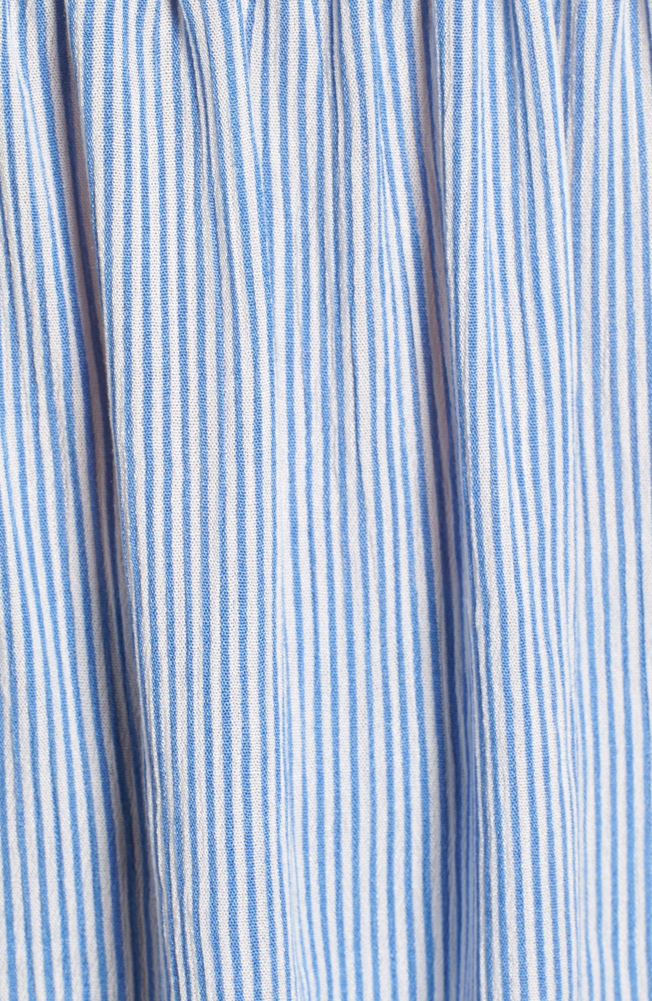 Mixed Stripe Tie Back Top,                             Alternate thumbnail 6, color,                             Blue Bell Devan Stripe