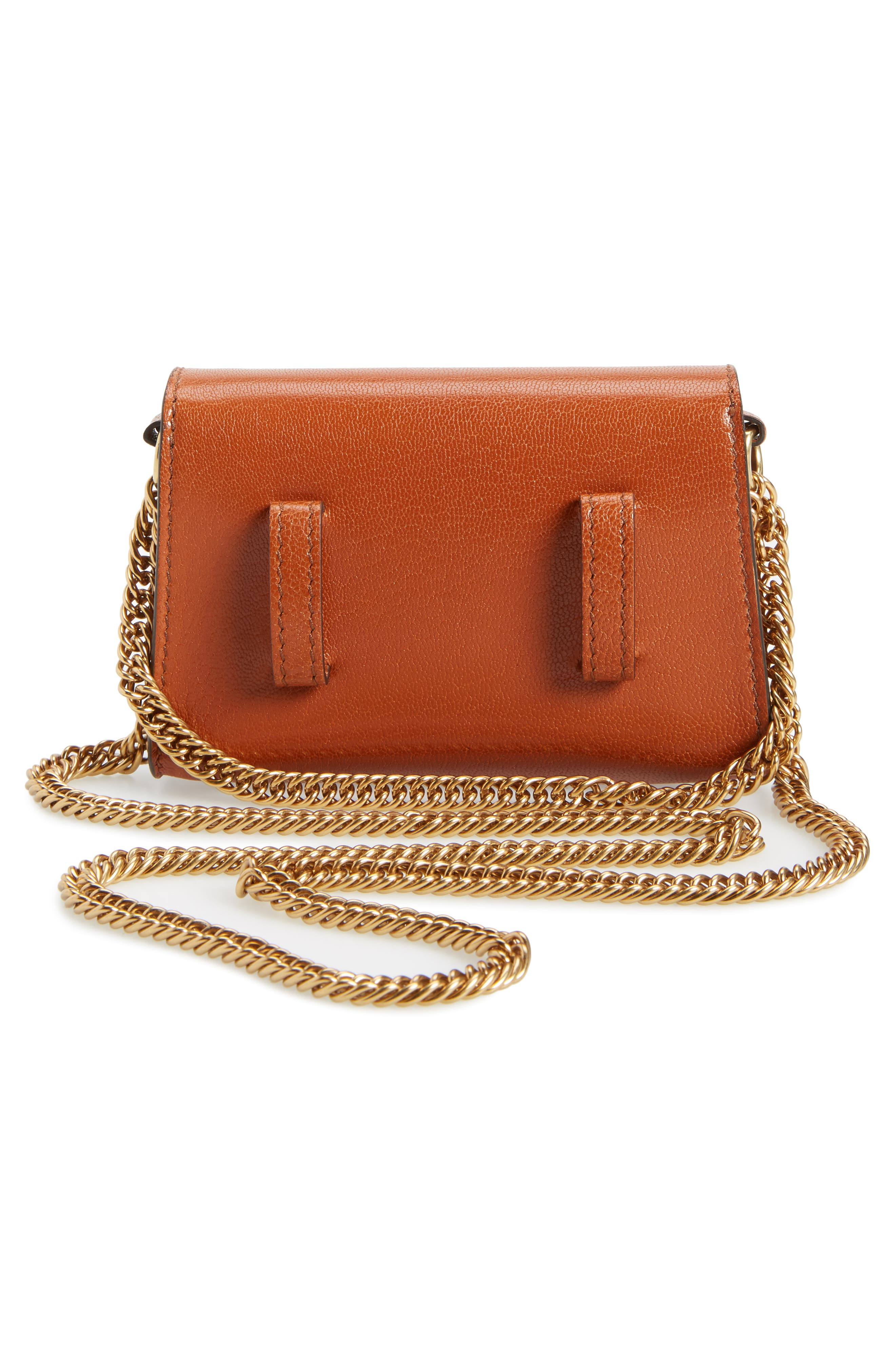Givency Nano GV3 Leather & Suede Crossbody Bag,                             Alternate thumbnail 3, color,                             Chestnut