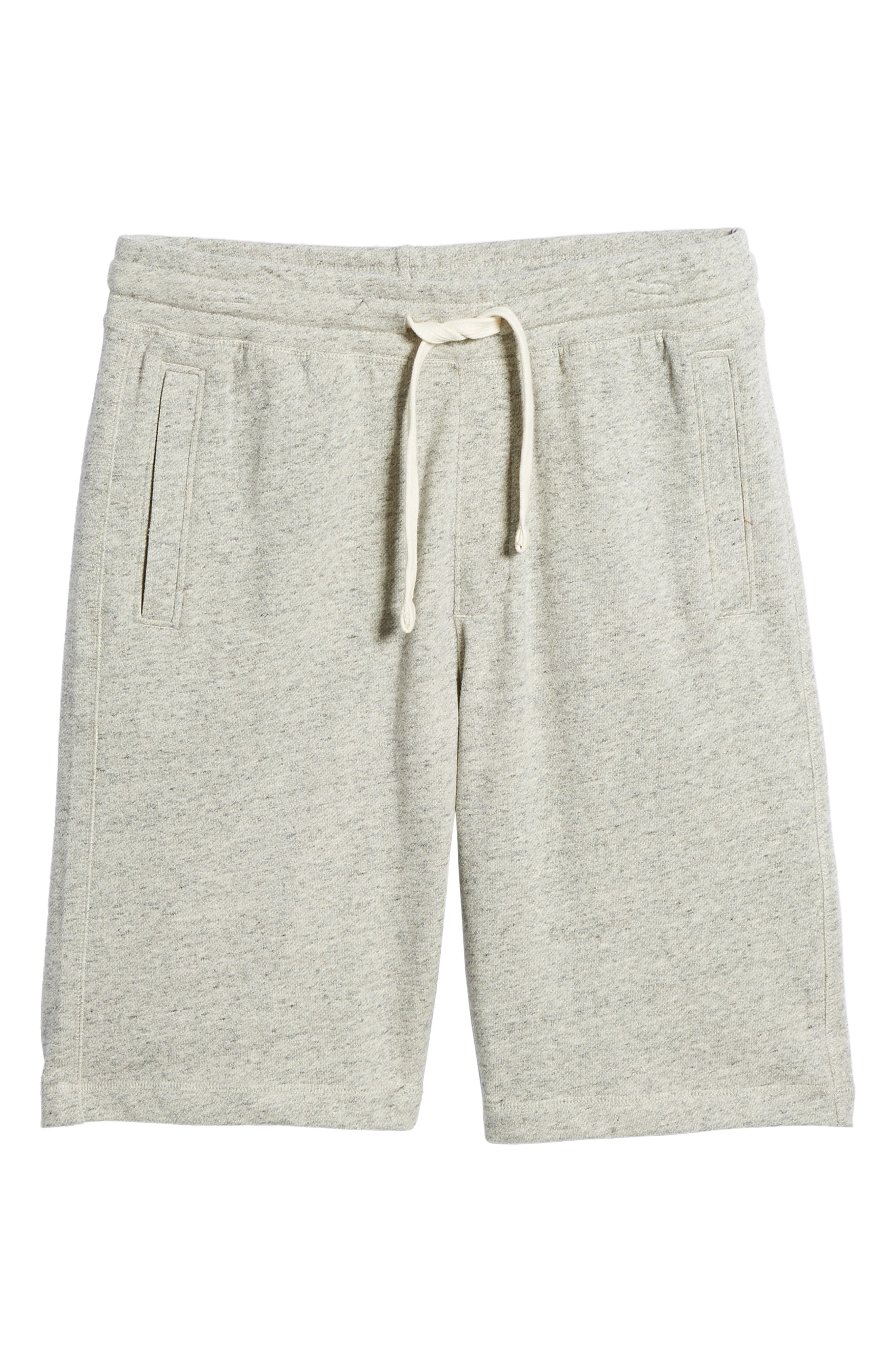 Stretch Cotton Terry Shorts,                             Alternate thumbnail 6, color,                             Grey Heather