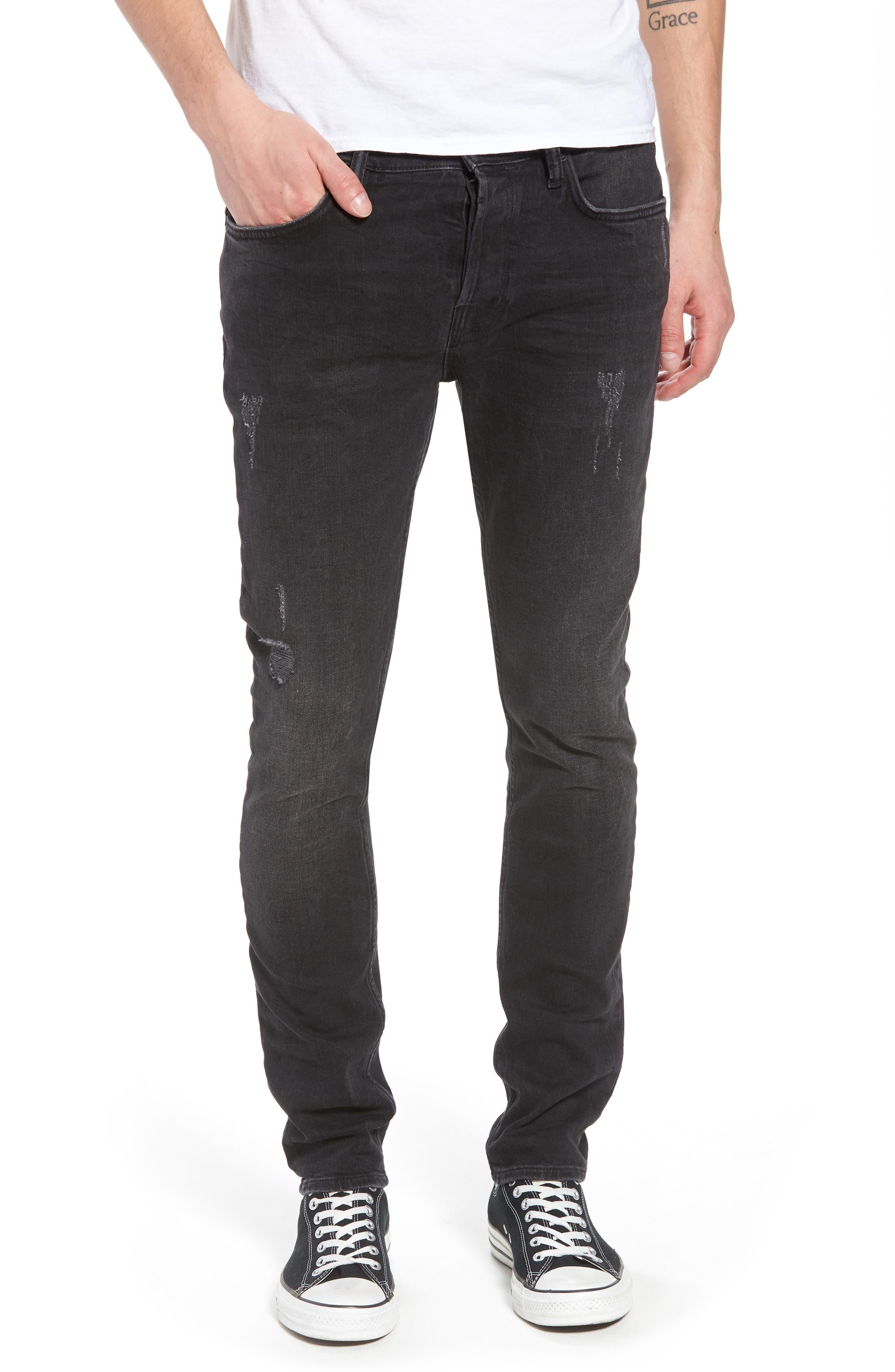 Raveline Skinny Fit Jeans,                             Main thumbnail 1, color,                             Black