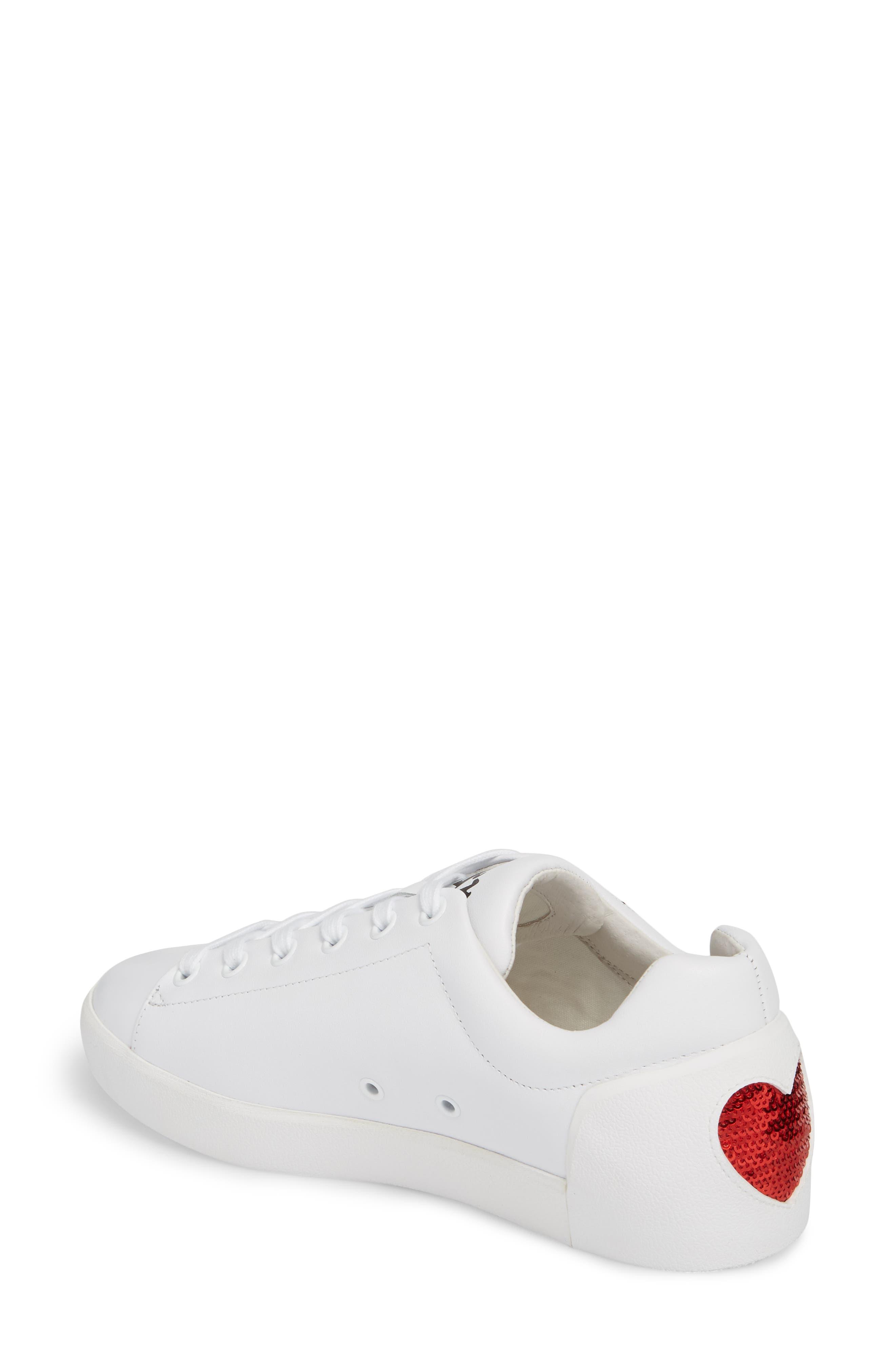 Nikita Sneaker,                             Alternate thumbnail 2, color,                             White/ Red