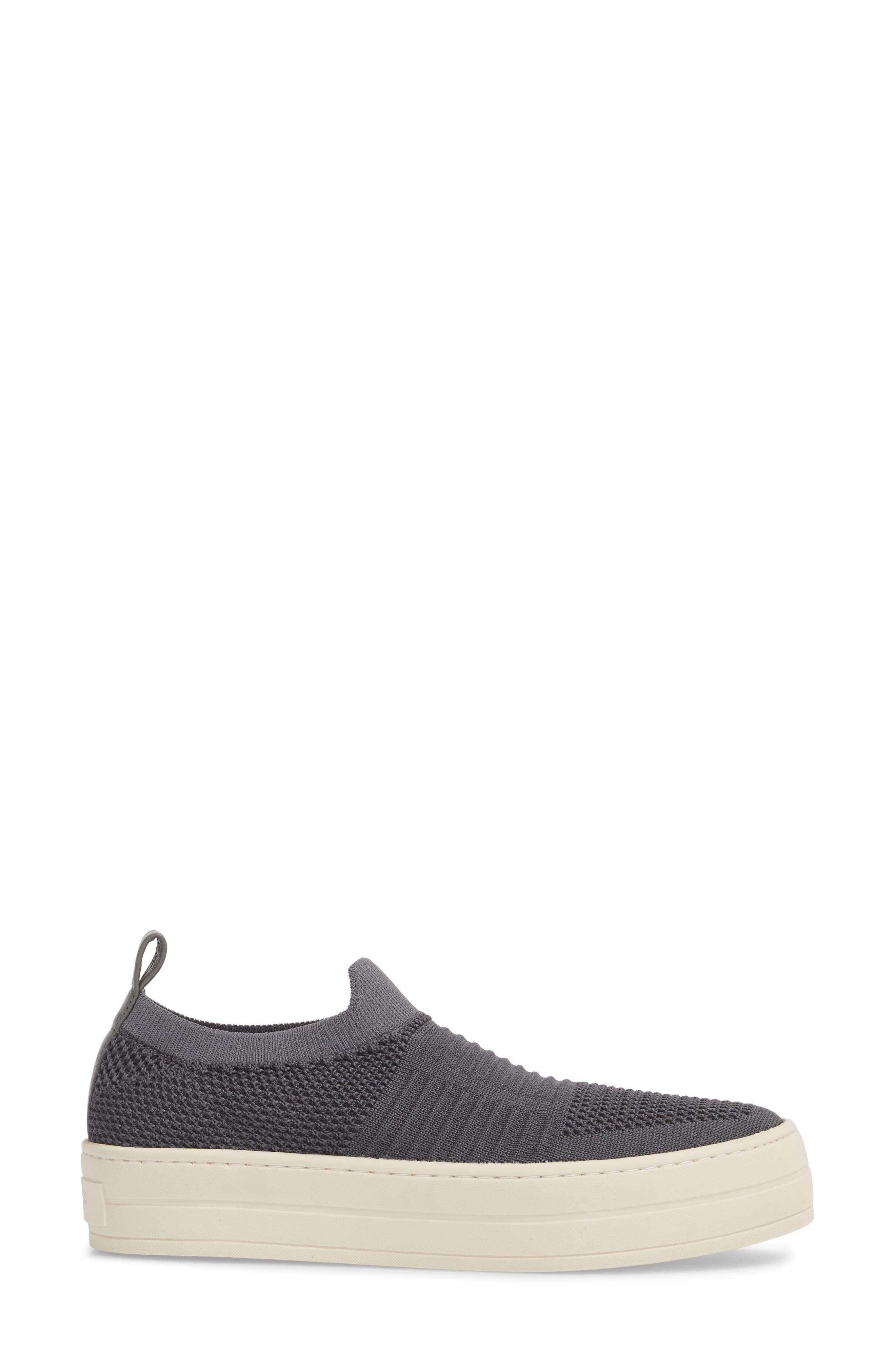 Hilo Platform Slip-On Sneaker,                             Alternate thumbnail 3, color,                             Grey Fabric