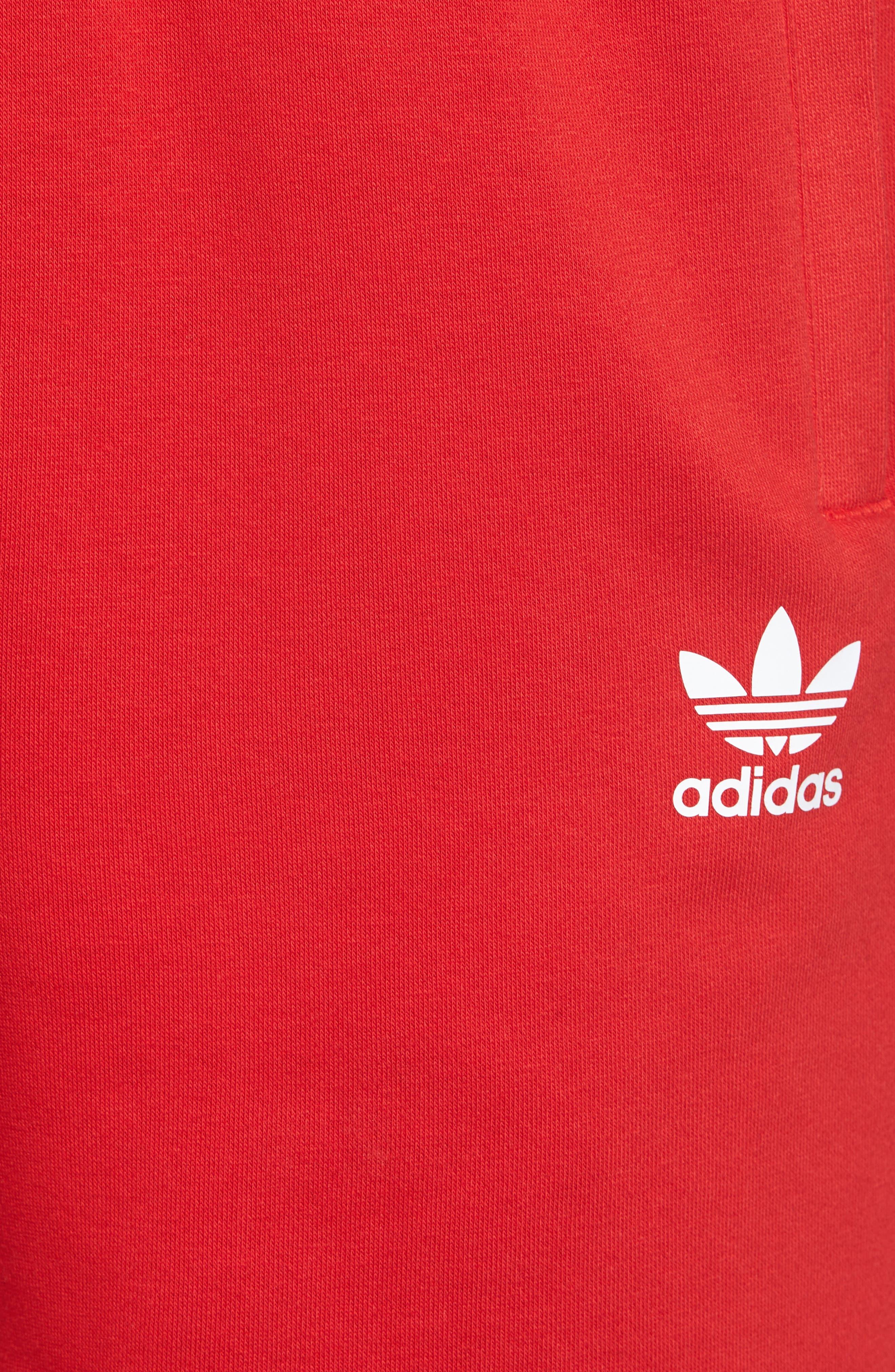 3-Stripes Shorts,                             Alternate thumbnail 5, color,                             Red/ White
