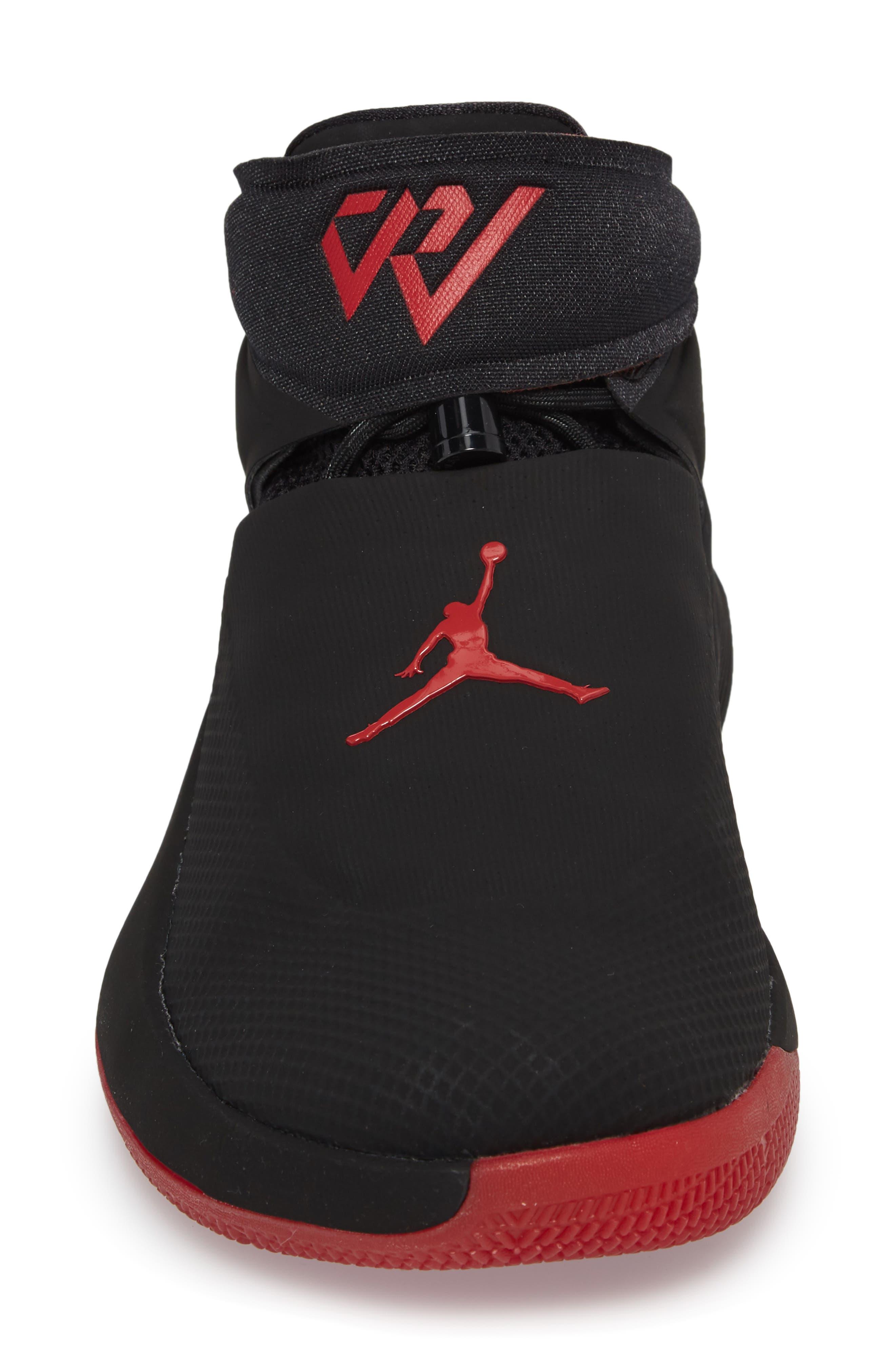 Jordan 'Why Not?' Zero.1 Basketball Shoe,                             Alternate thumbnail 4, color,                             Black/ Hyper Royal