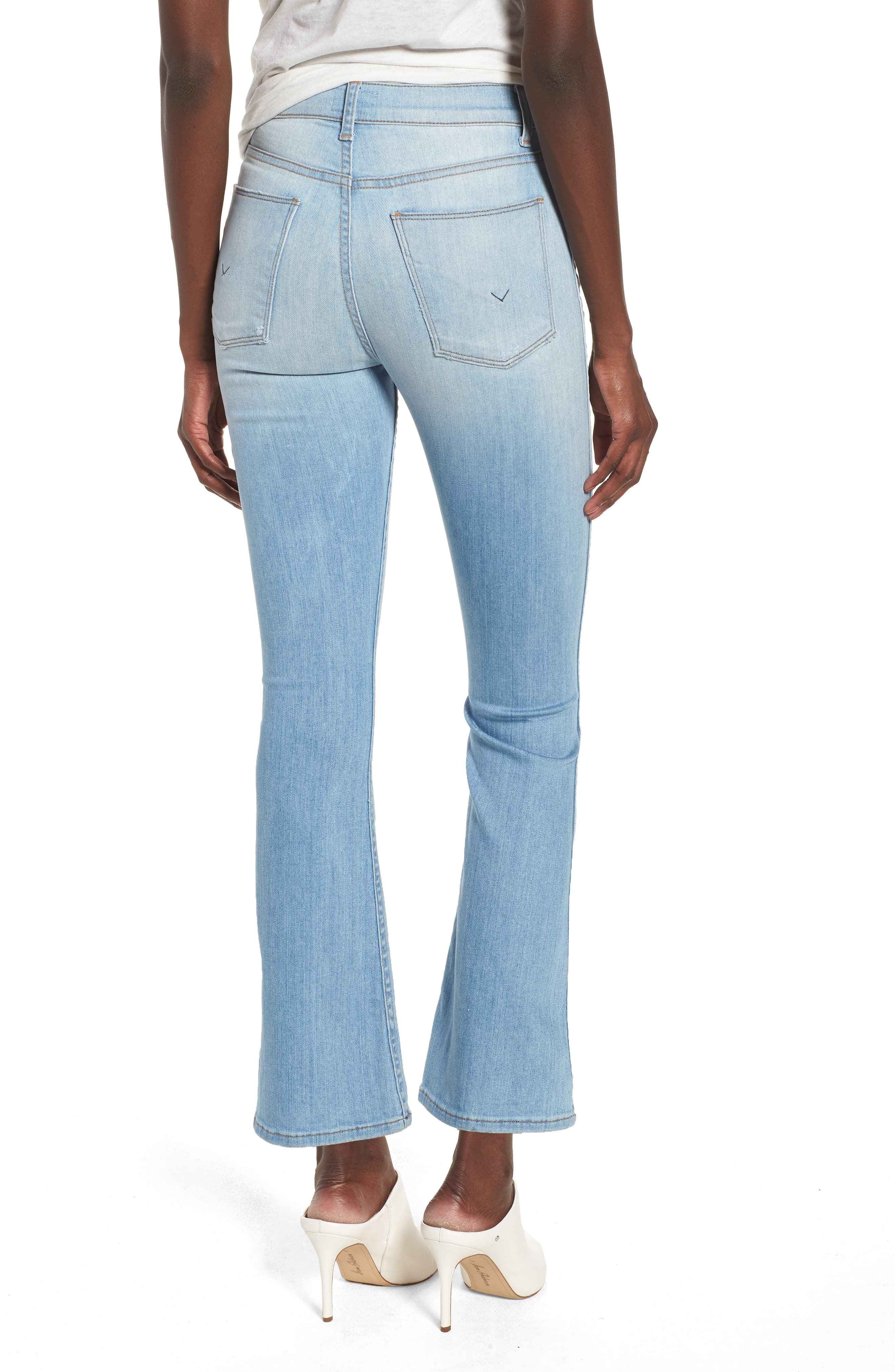 Holly High Waist Crop Flare Jeans,                             Alternate thumbnail 2, color,                             Closer