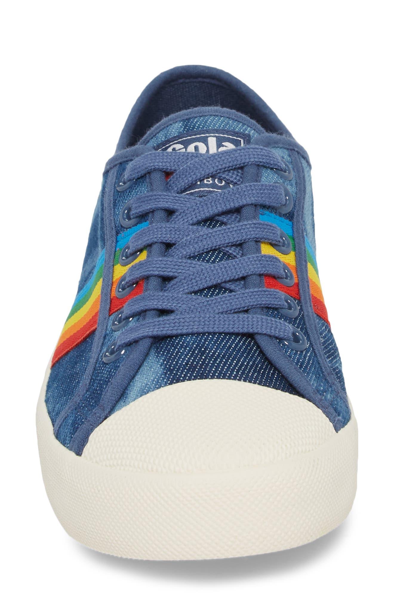 Alternate Image 4  - Gola Coaster Rainbow Striped Sneaker (Women)
